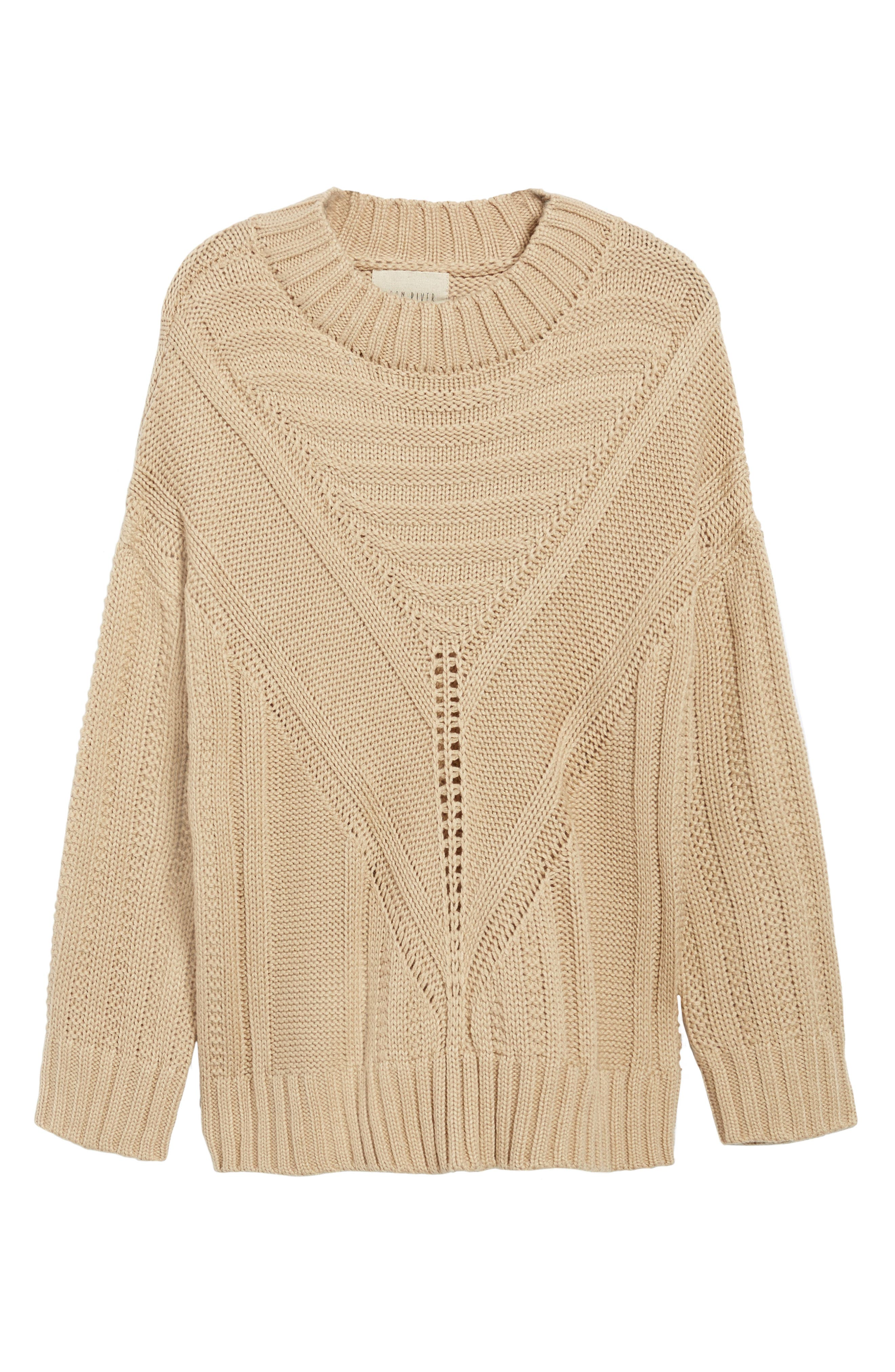 Oversize Drop Shoulder Sweater,                             Alternate thumbnail 6, color,                             250