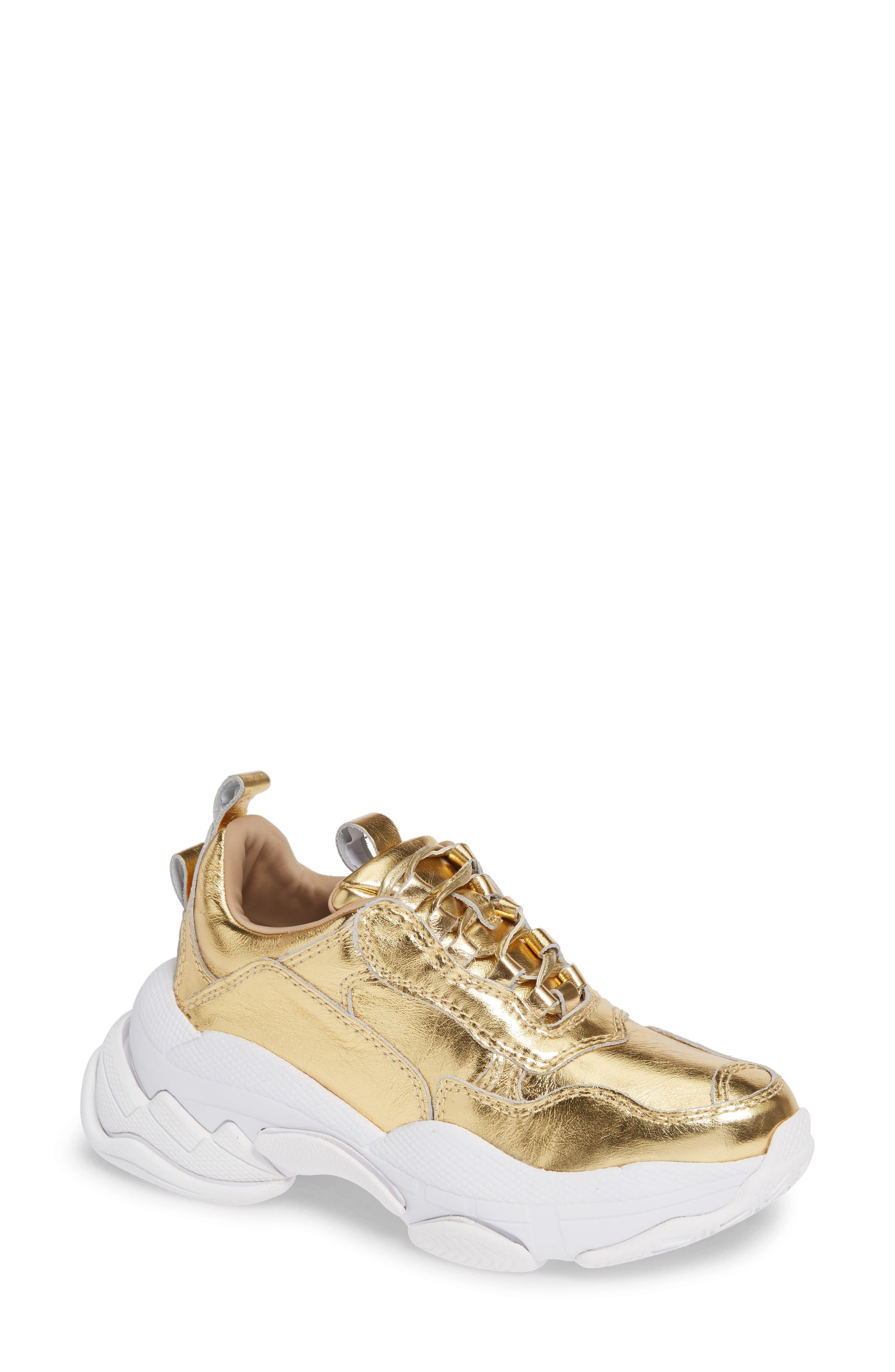 Lo-Fi Sneaker,                         Main,                         color, GOLD CRINKLE