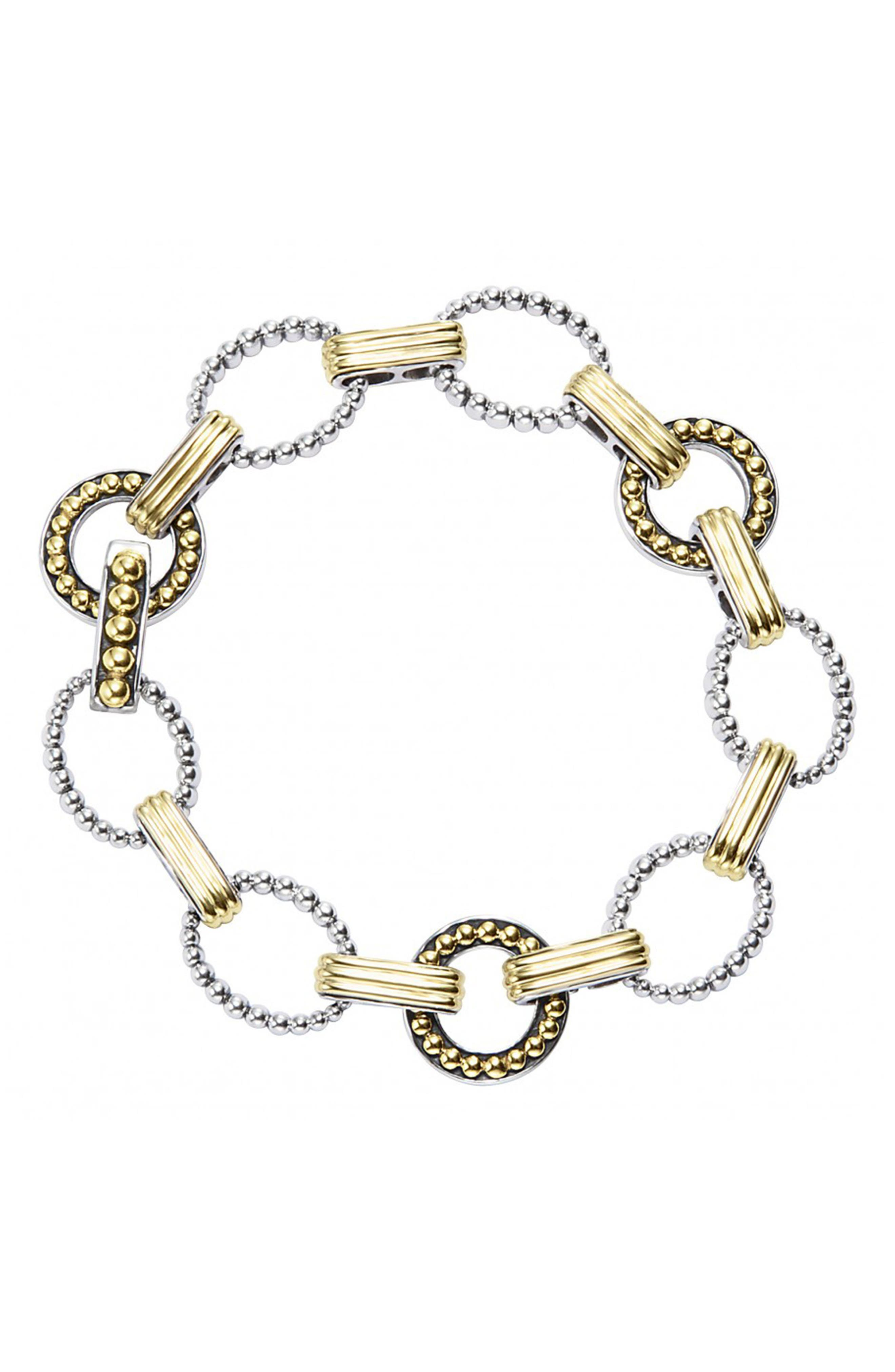 'Enso' Two-Tone Link Bracelet,                             Alternate thumbnail 2, color,                             040
