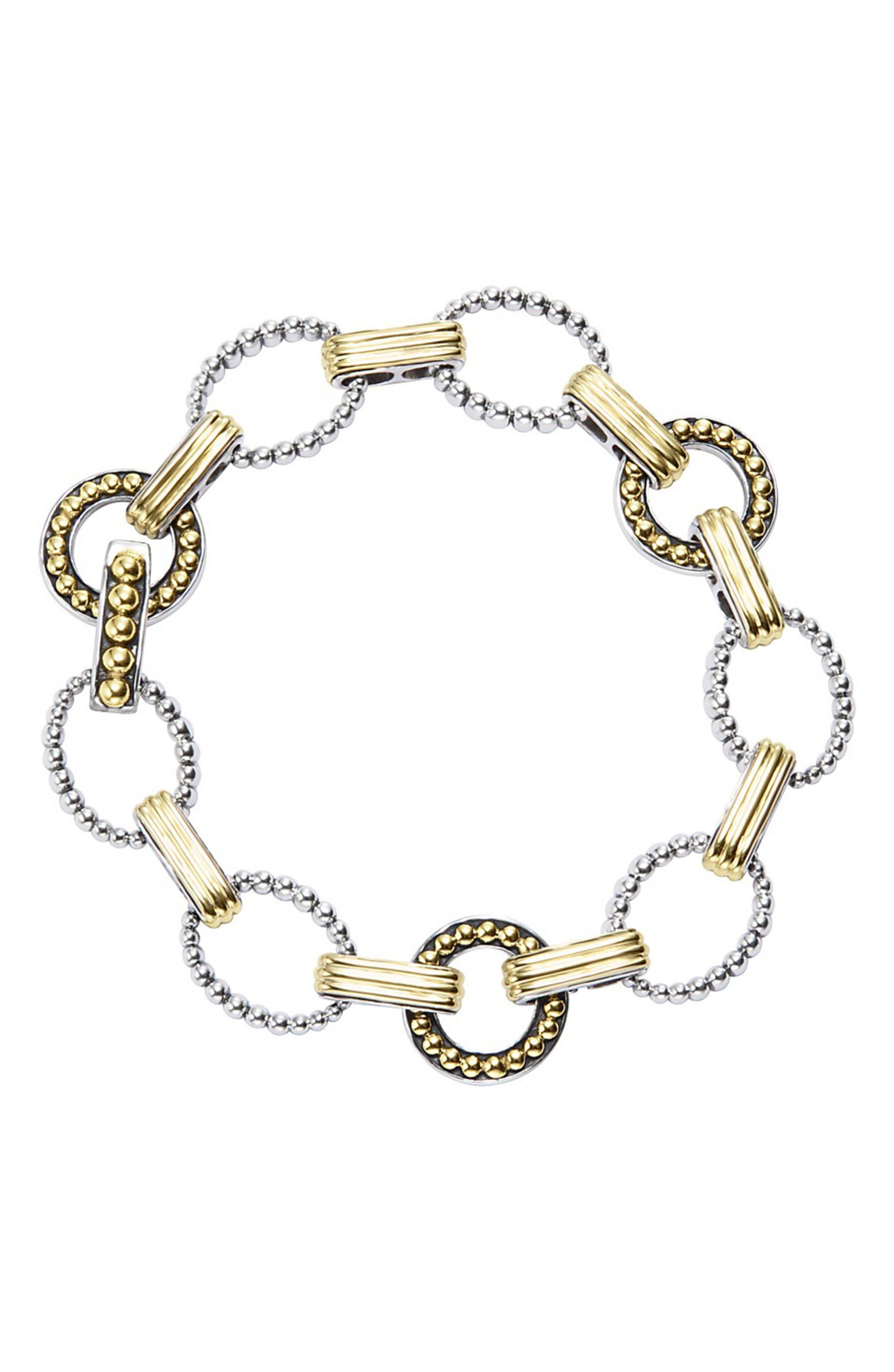 'Enso' Two-Tone Link Bracelet,                         Main,                         color, 040