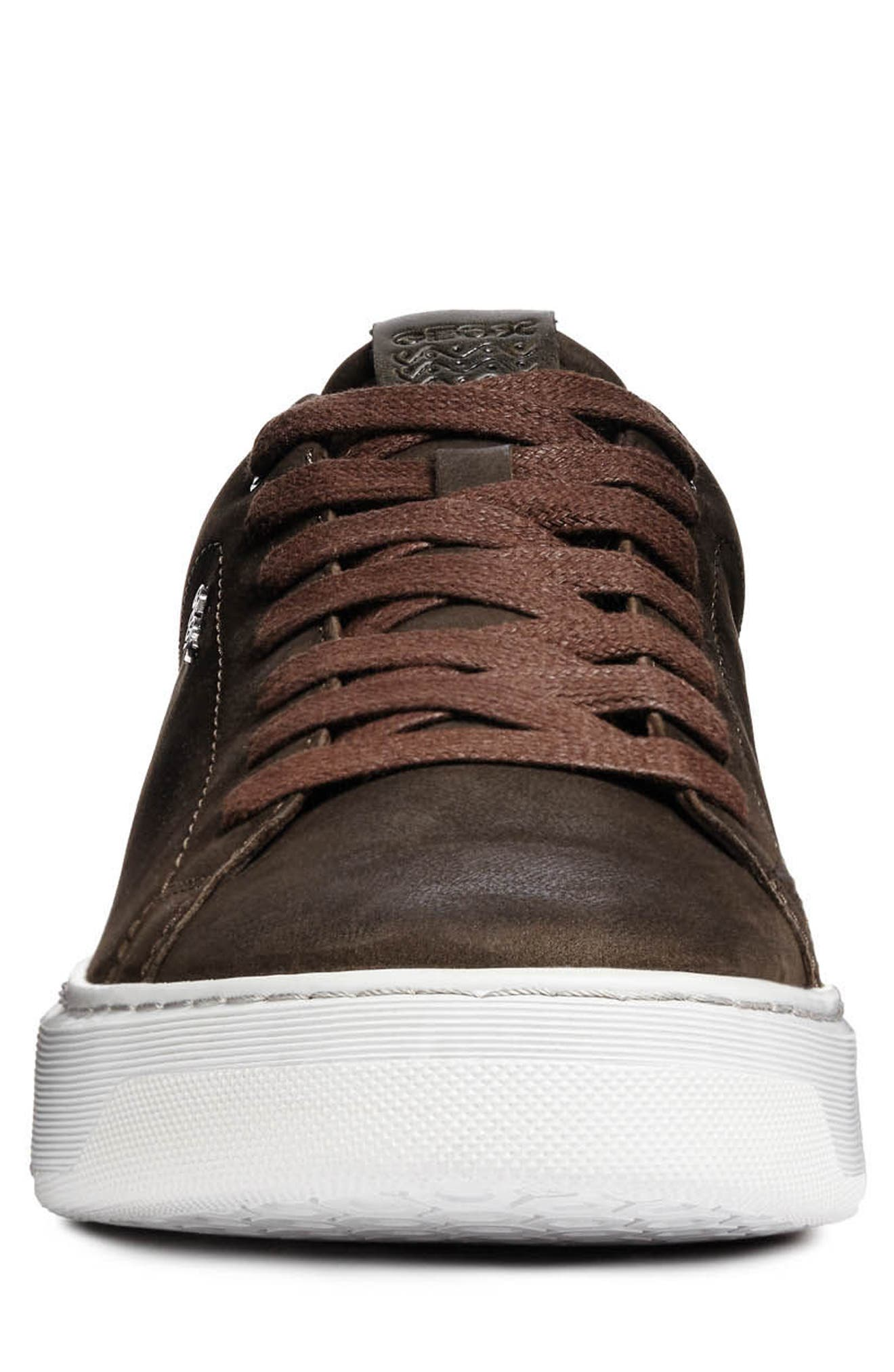 Deiven 5 Low Top Sneaker,                             Alternate thumbnail 4, color,                             DARK COFFEE LEATHER