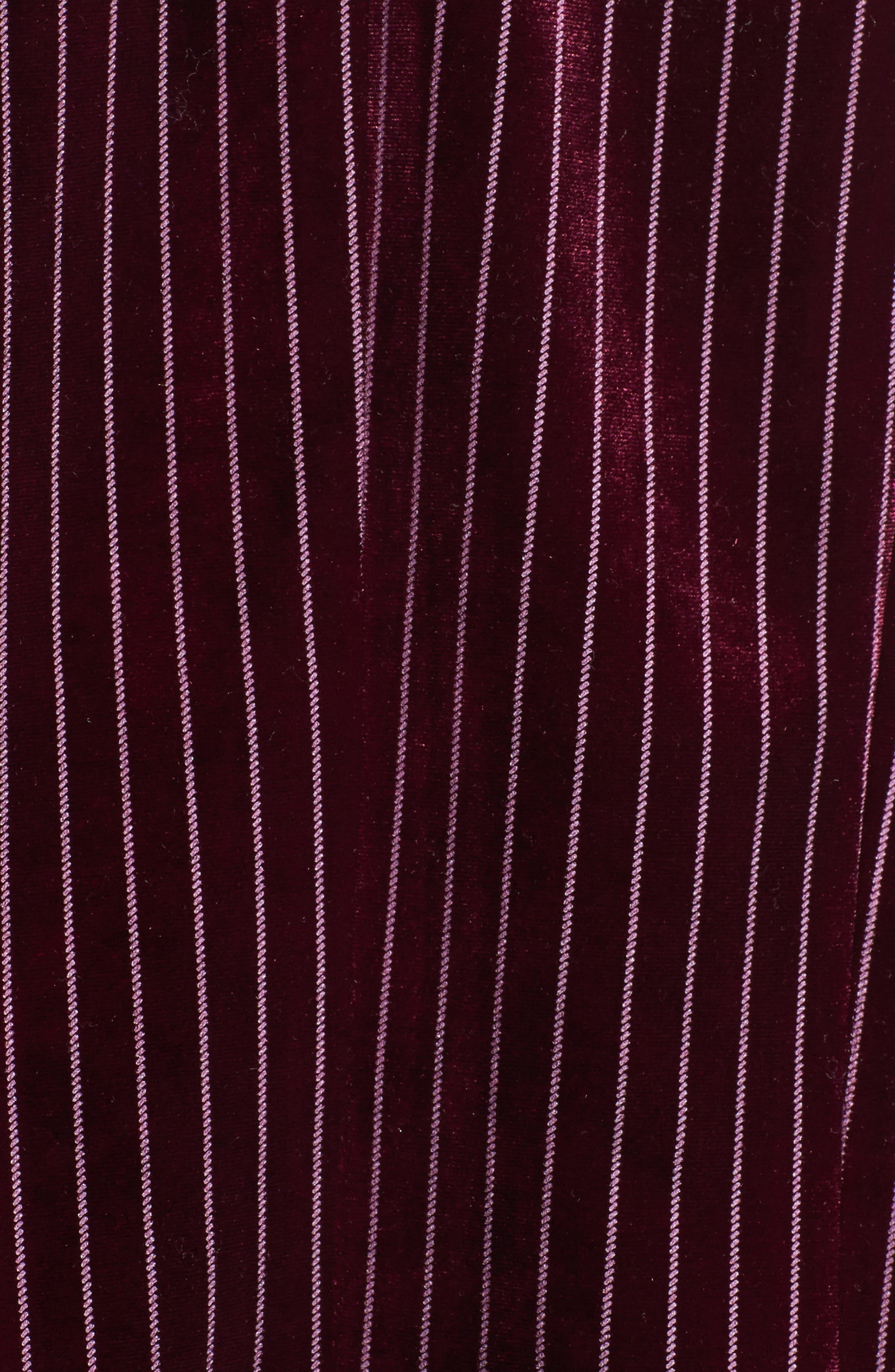 Stripe Velour Blazer,                             Alternate thumbnail 6, color,