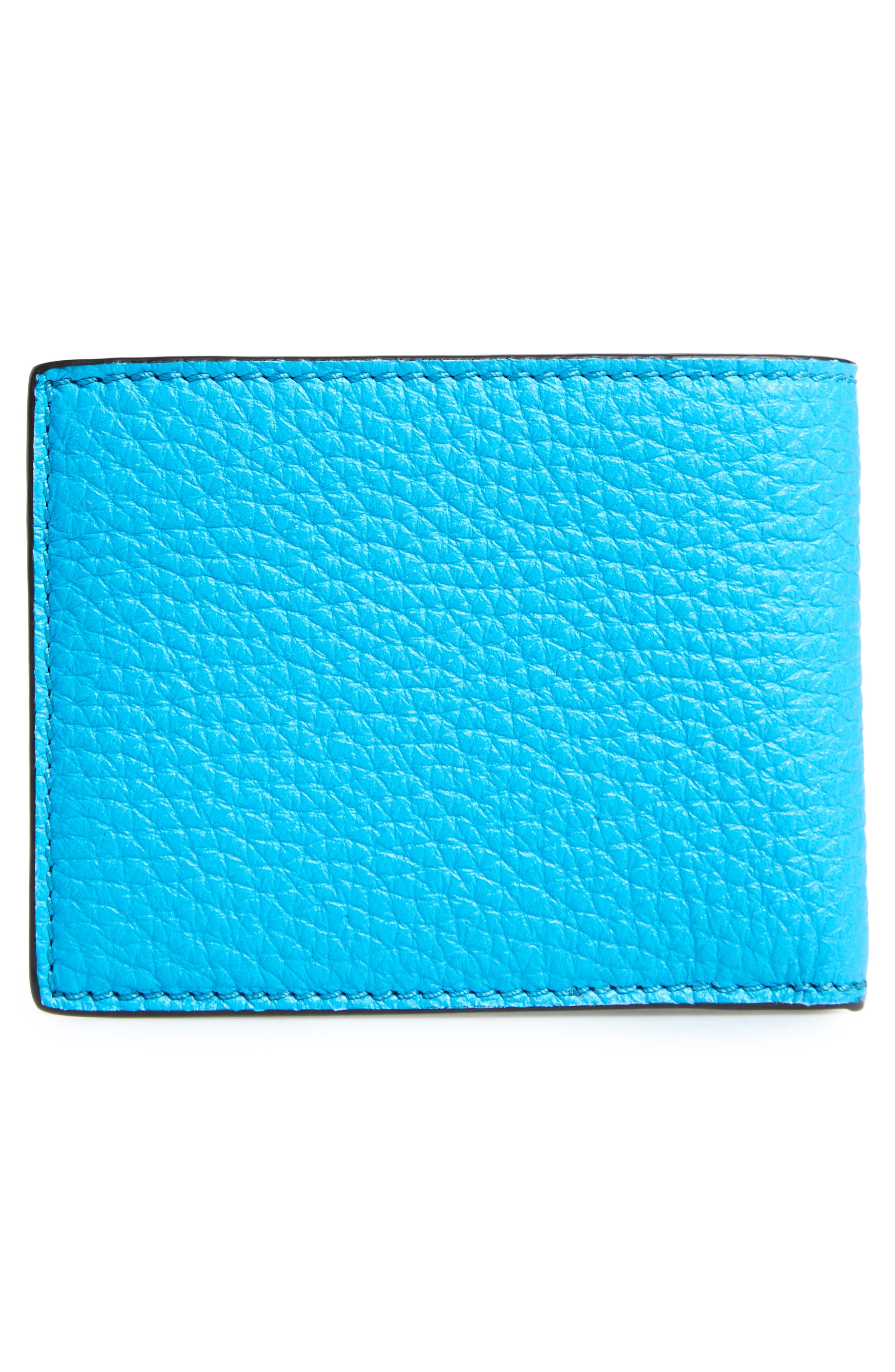 Leather Bifold Wallet,                             Alternate thumbnail 3, color,                             437