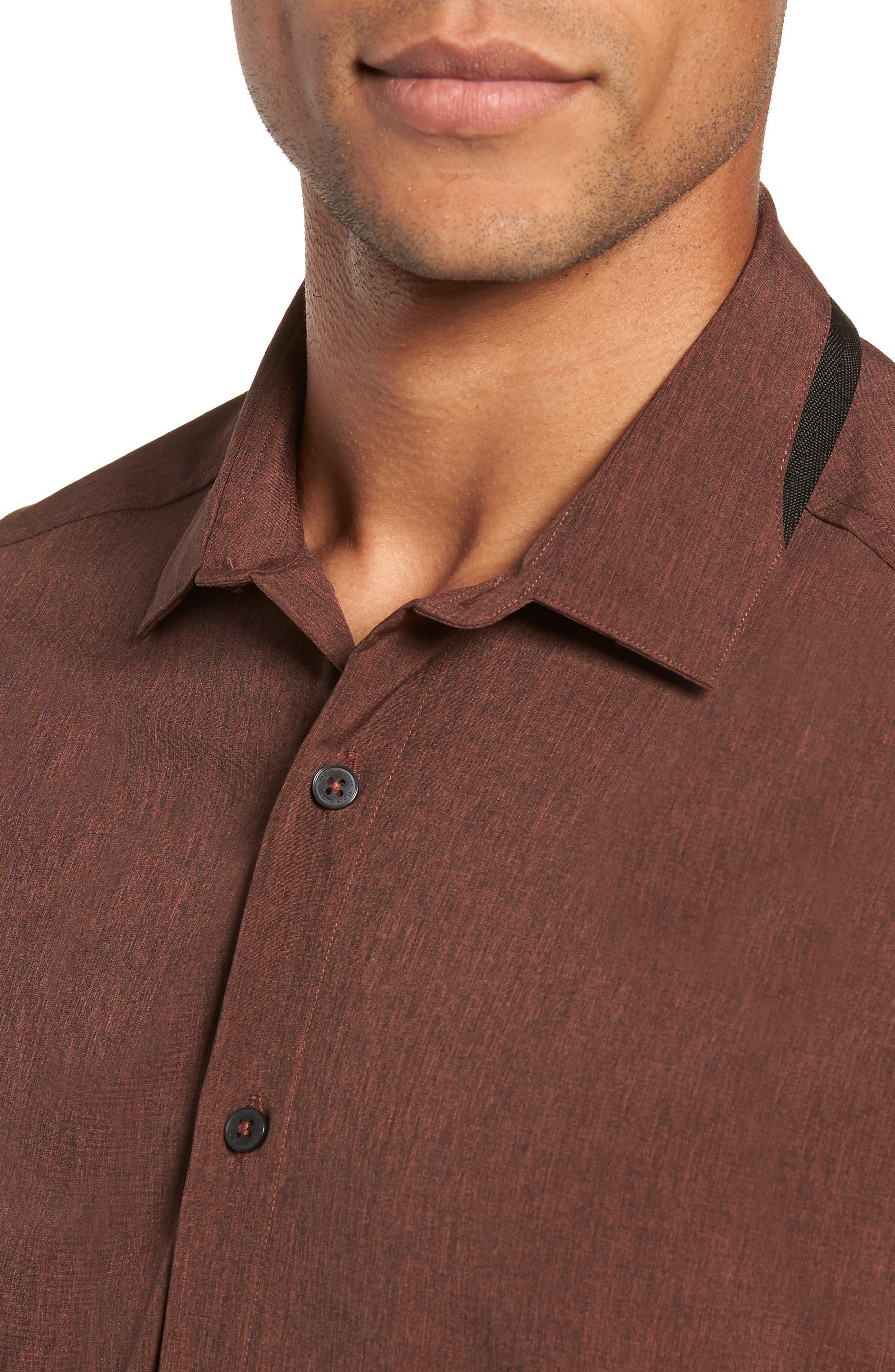 Long Sleeve Performance Sport Shirt,                             Alternate thumbnail 2, color,                             HENNA SCRATCH