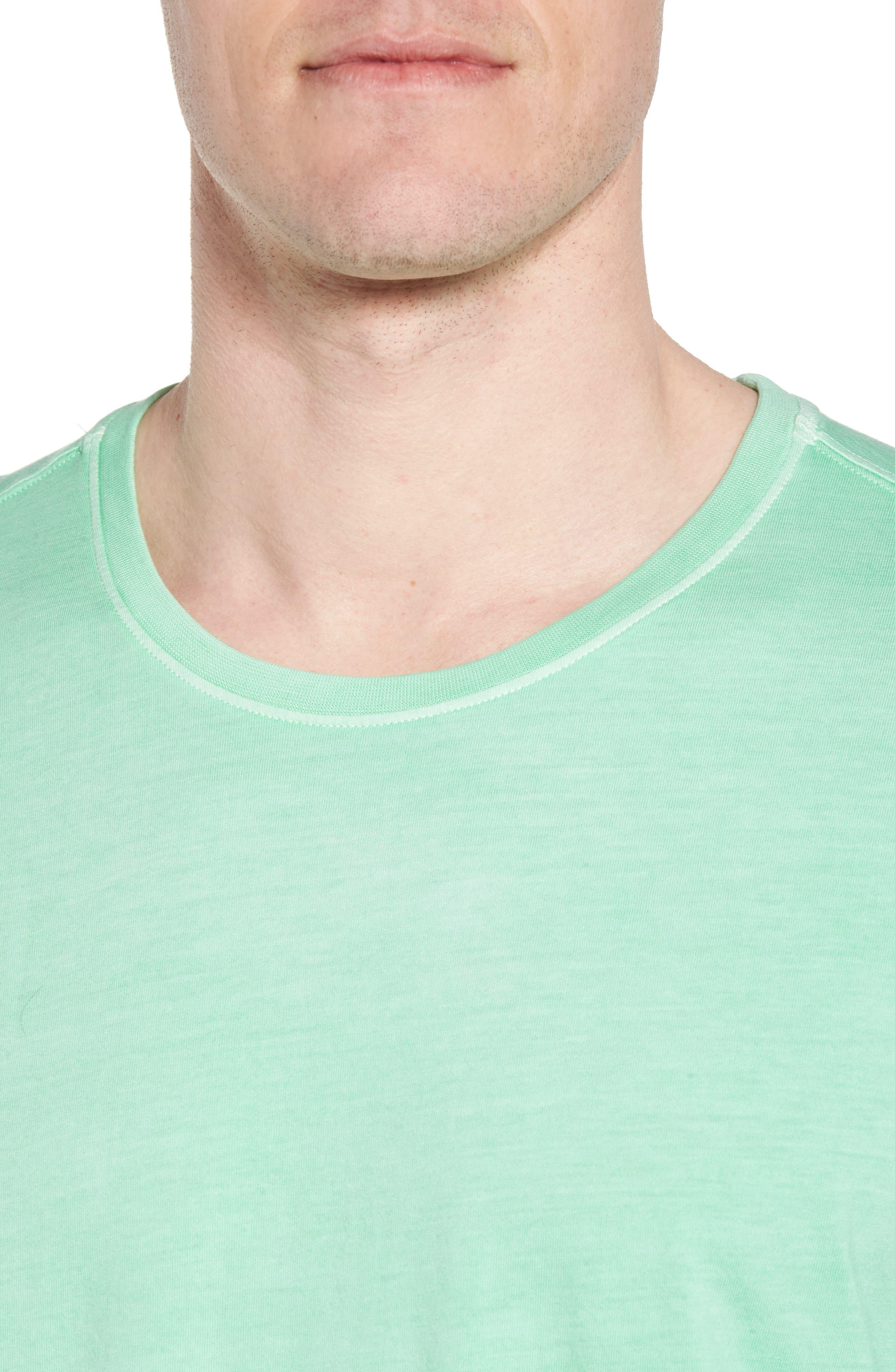 Peruvian Pima Cotton Crewneck T-Shirt,                             Alternate thumbnail 4, color,                             LIME