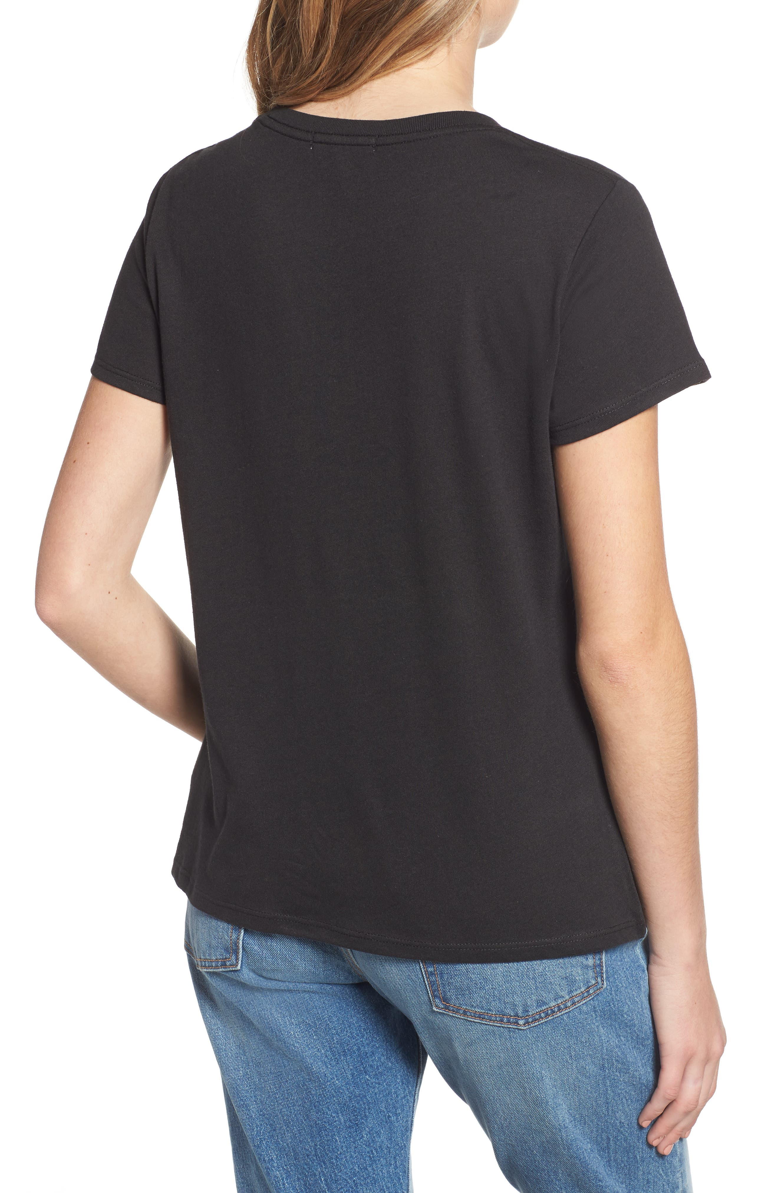 Bee Yourself Slouched Tee,                             Alternate thumbnail 2, color,                             BLACK