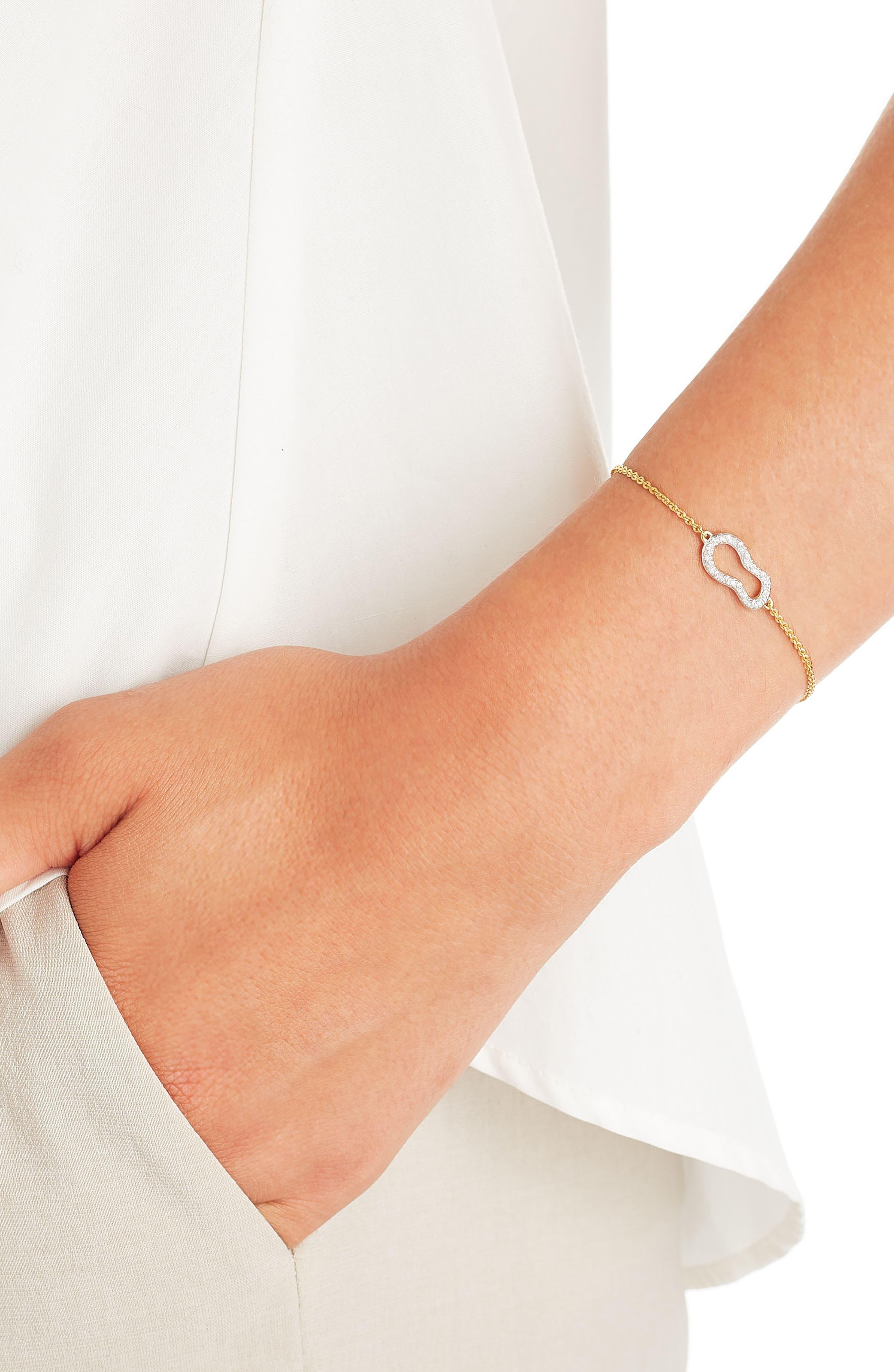 Riva Diamond Bracelet,                             Alternate thumbnail 5, color,                             ROSE GOLD/ DIAMOND