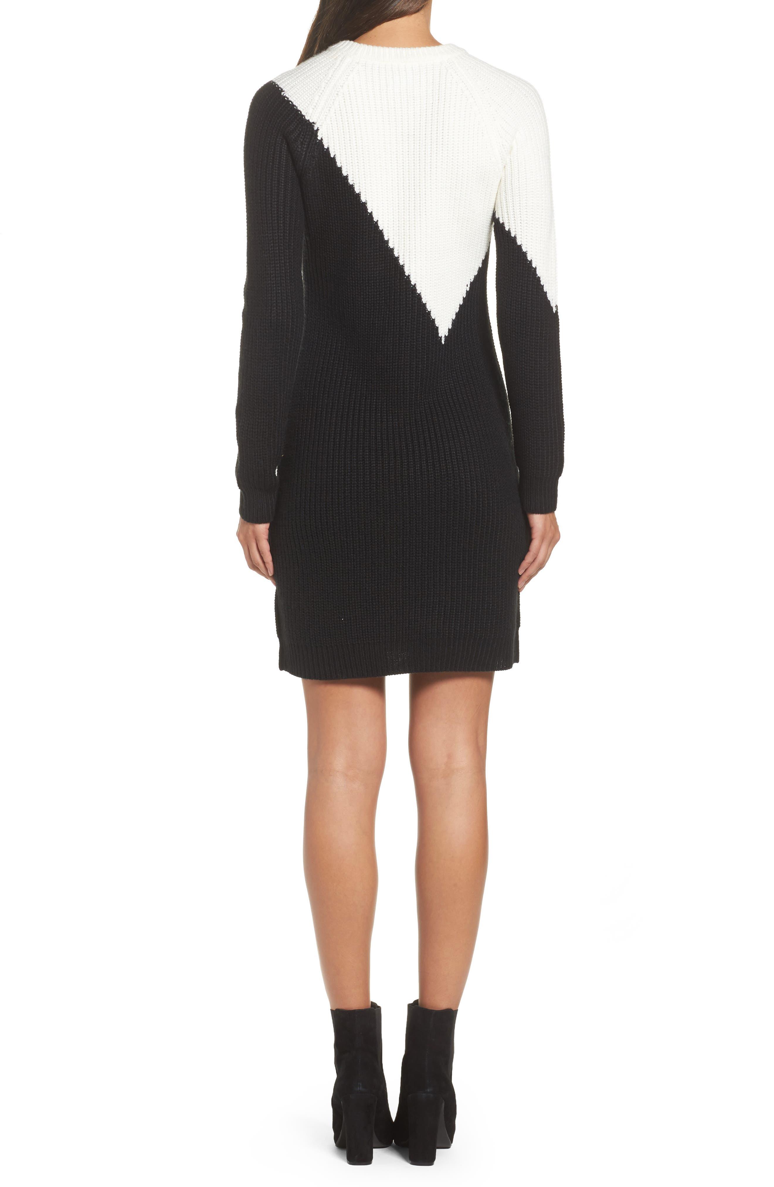 Colorblock Sweater Dress,                             Alternate thumbnail 2, color,                             010