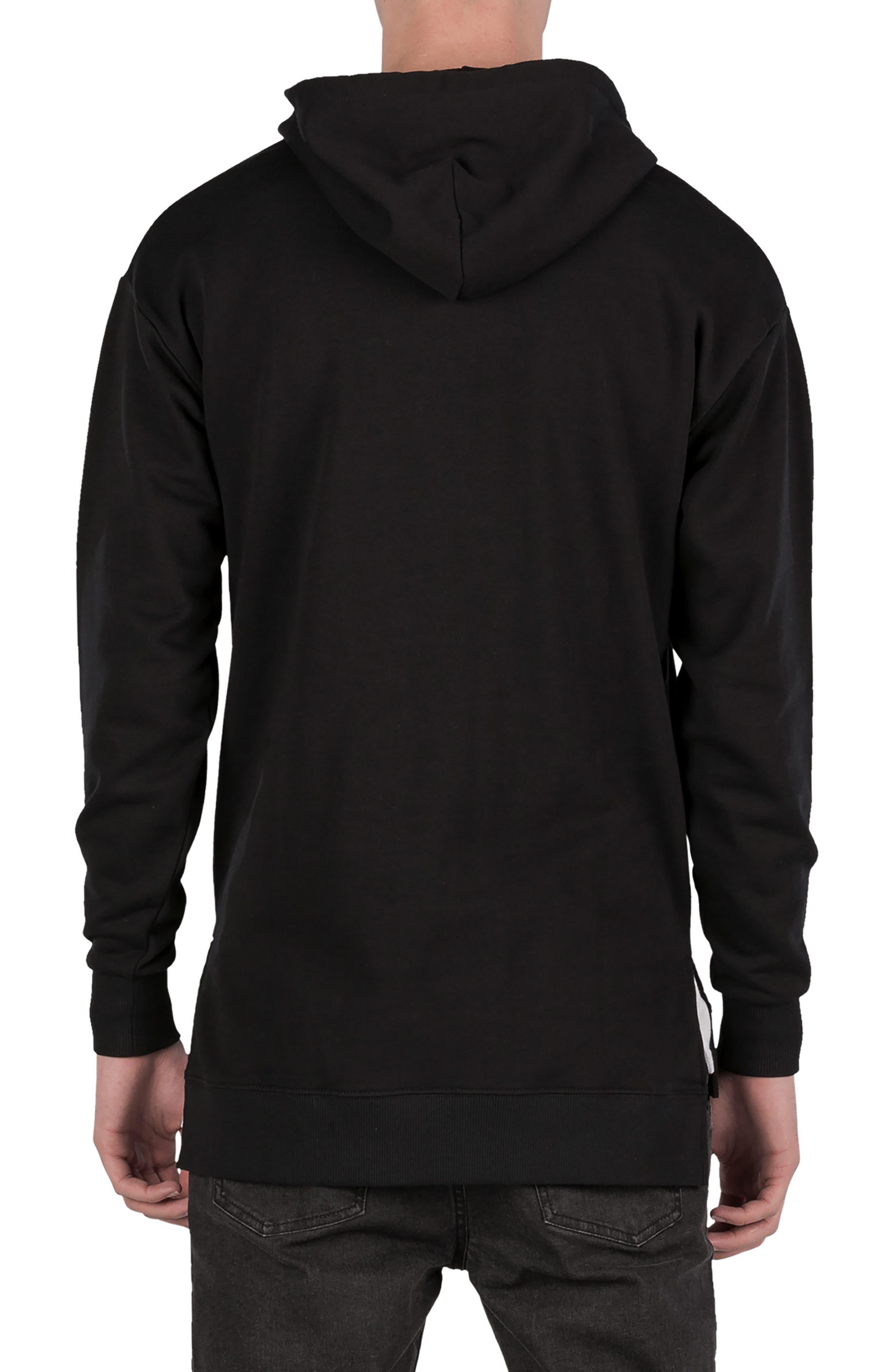 Rugger Hooded Sweatshirt,                             Alternate thumbnail 2, color,                             BLACK