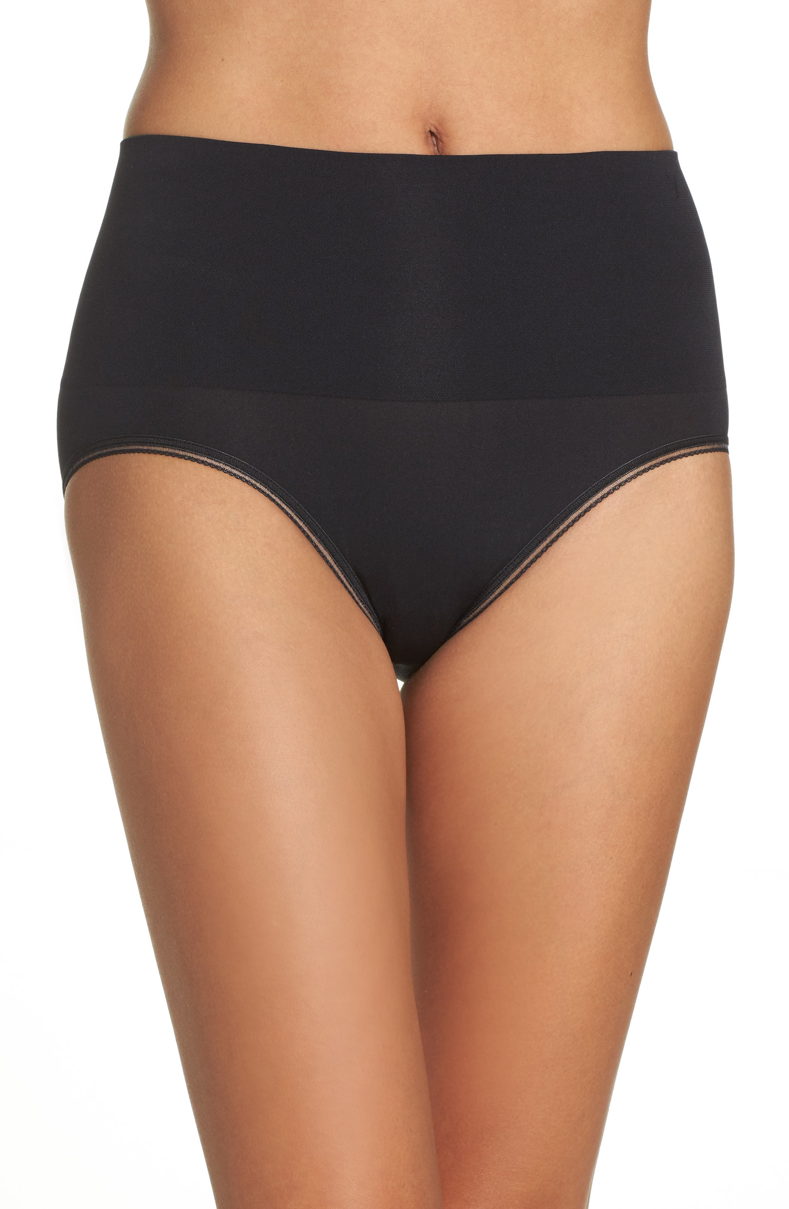 Ultralight Seamless Shaping Briefs,                         Main,                         color, BLACK