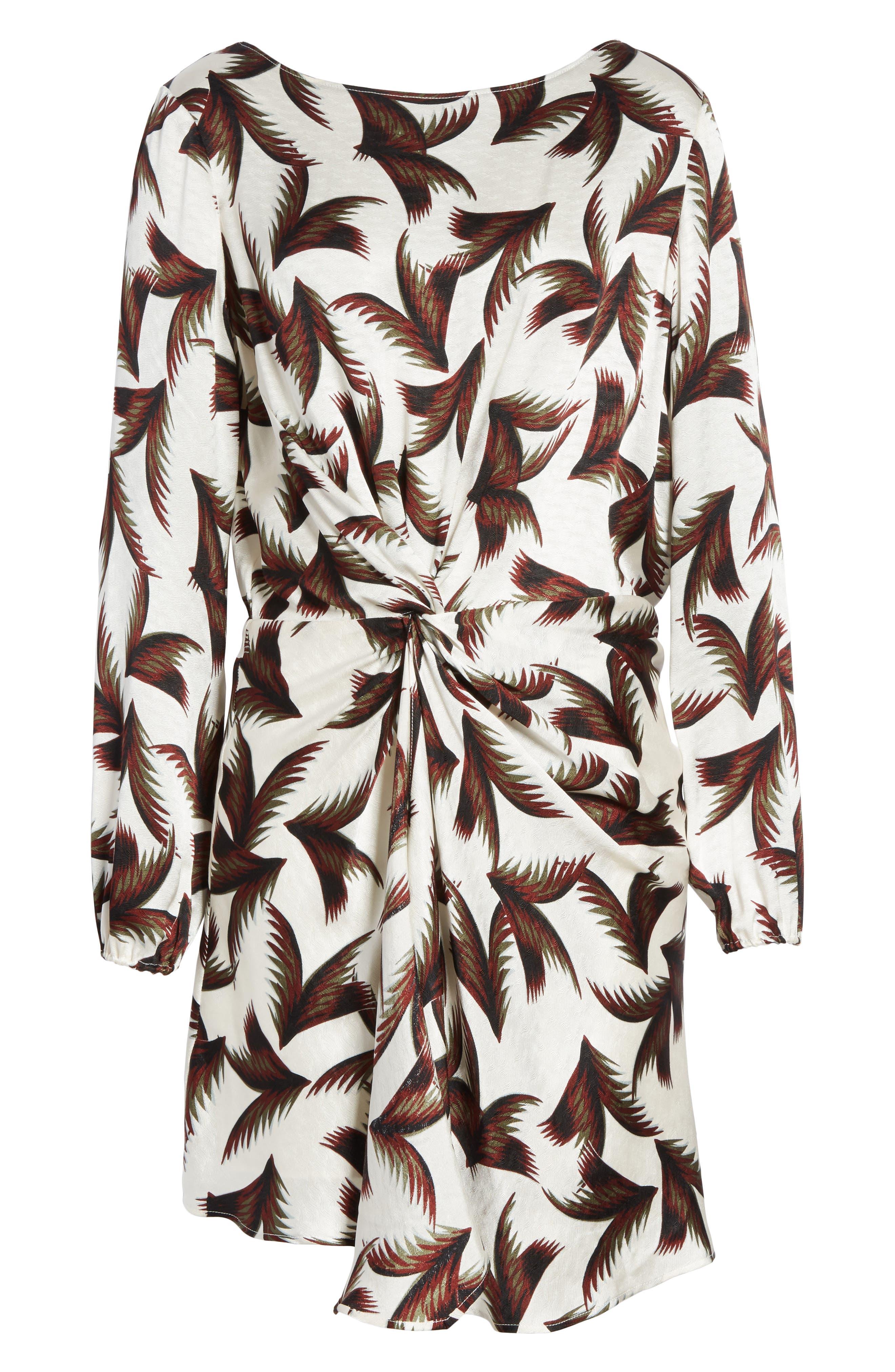 Freja Knotted Silk Dress,                             Alternate thumbnail 6, color,                             110