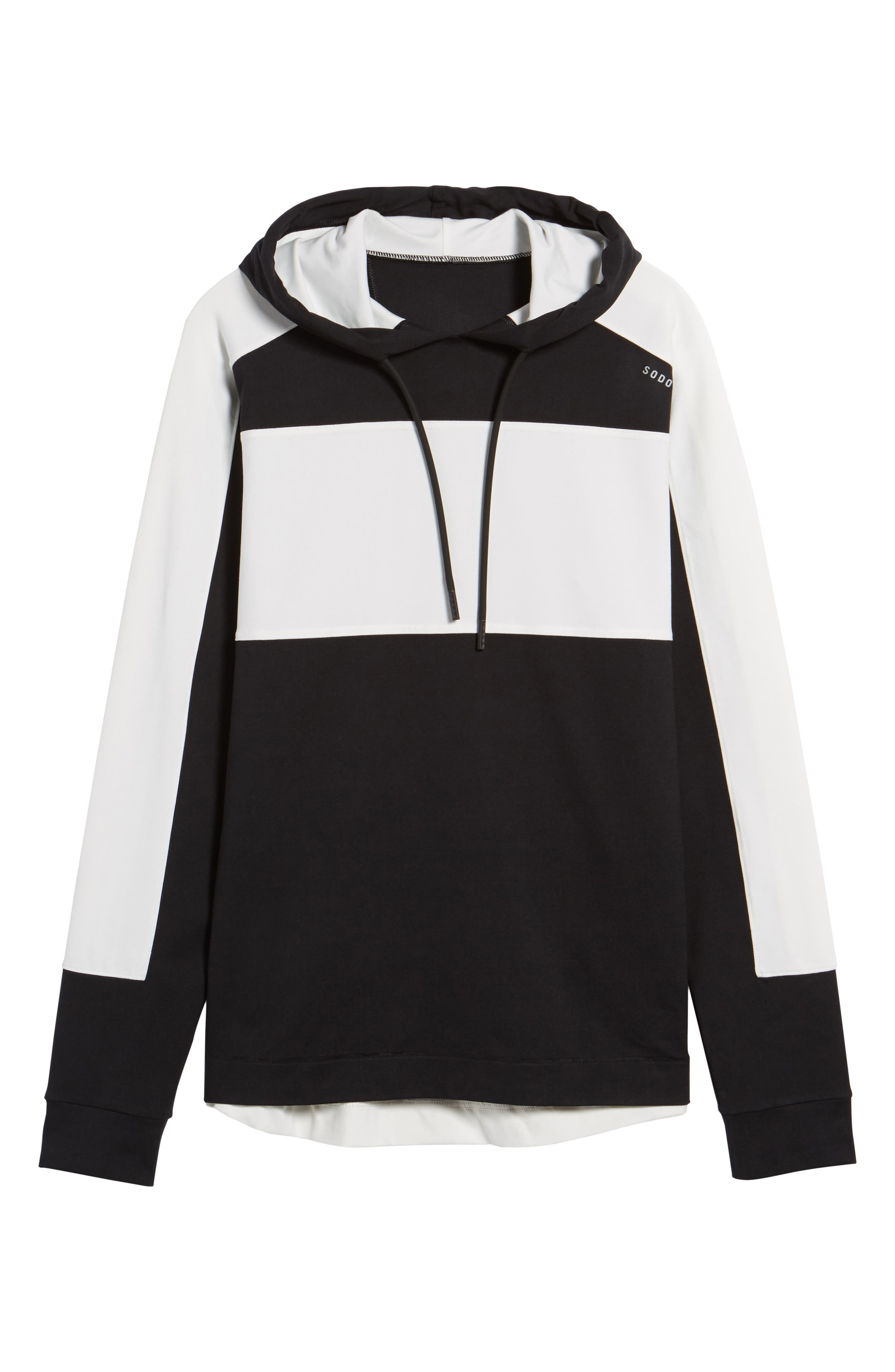 Colorblock Stretch Hoodie,                             Alternate thumbnail 6, color,                             001