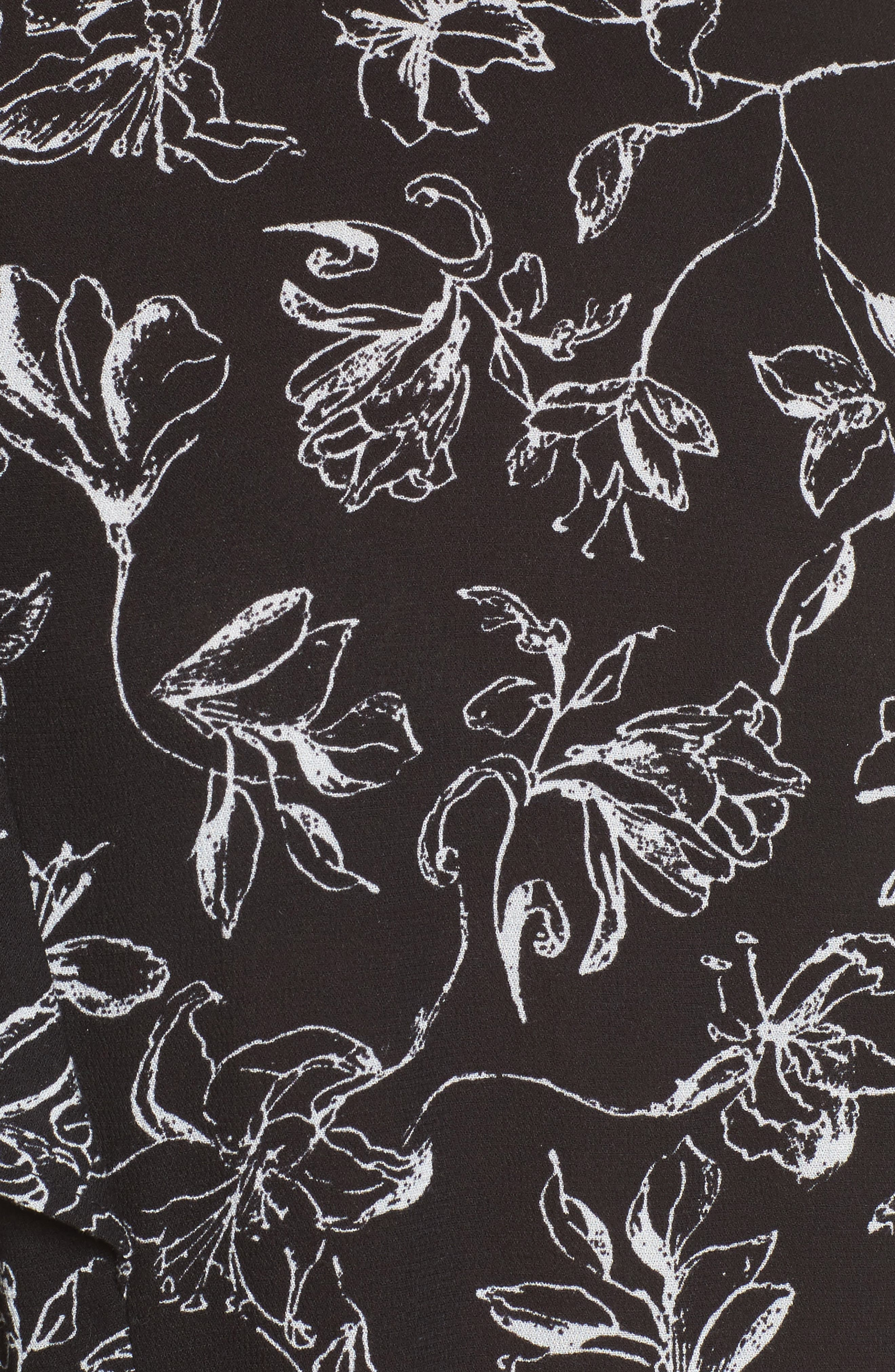 Floral Print Ruffle Blouse,                             Alternate thumbnail 9, color,