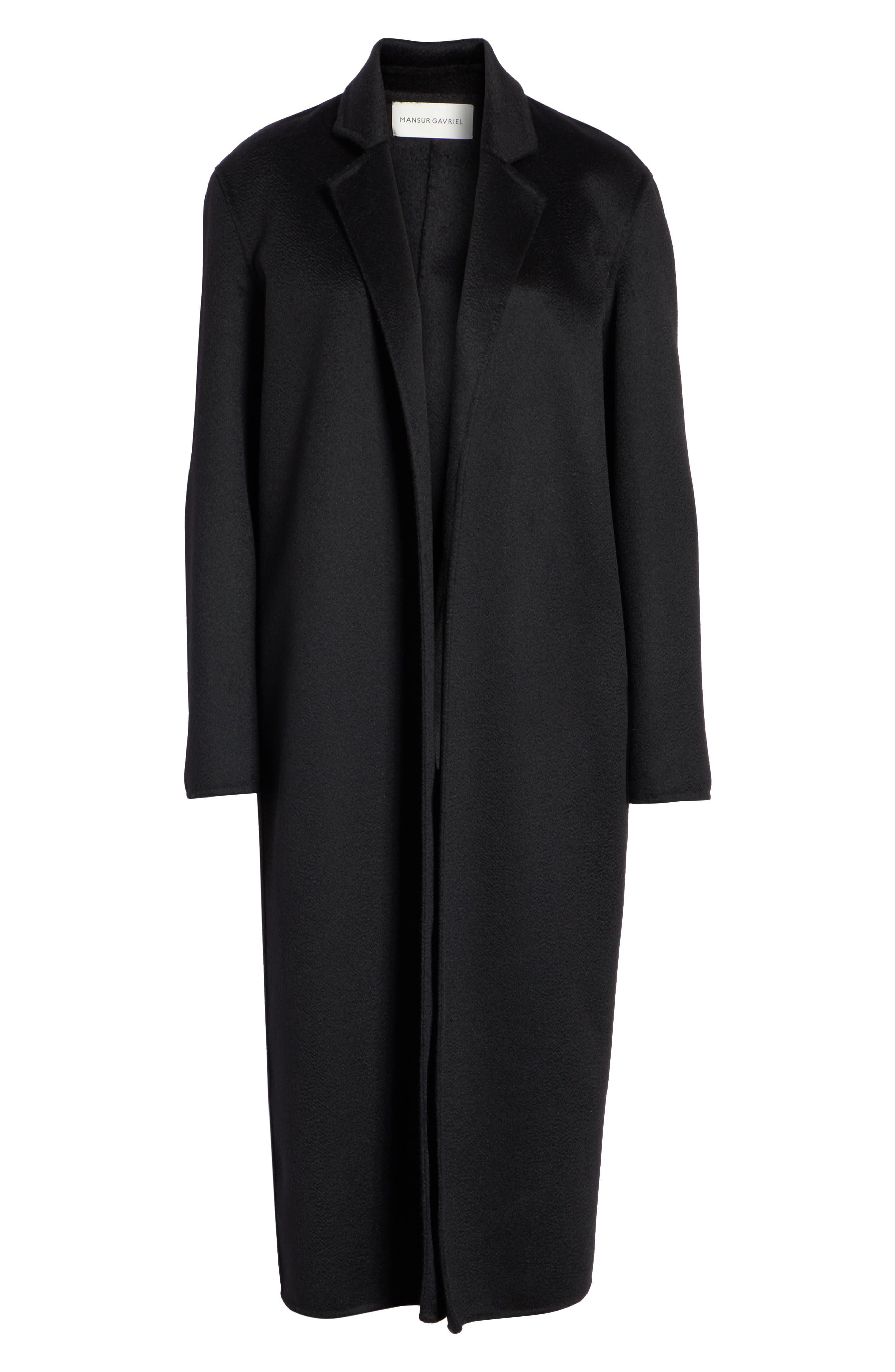 MANSUR GAVRIEL,                             Longline Cashmere Coat,                             Alternate thumbnail 5, color,                             001