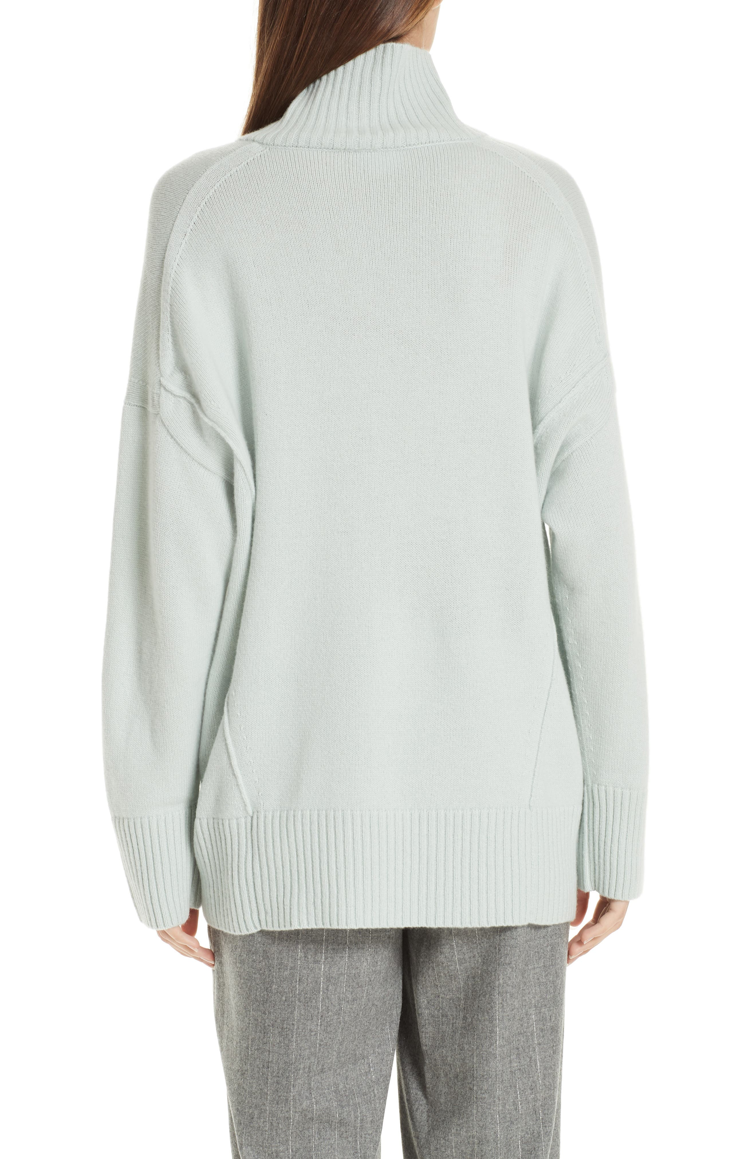 LAFAYETTE 148 NEW YORK,                             Relaxed Cashmere Turtleneck Sweater,                             Alternate thumbnail 2, color,                             400