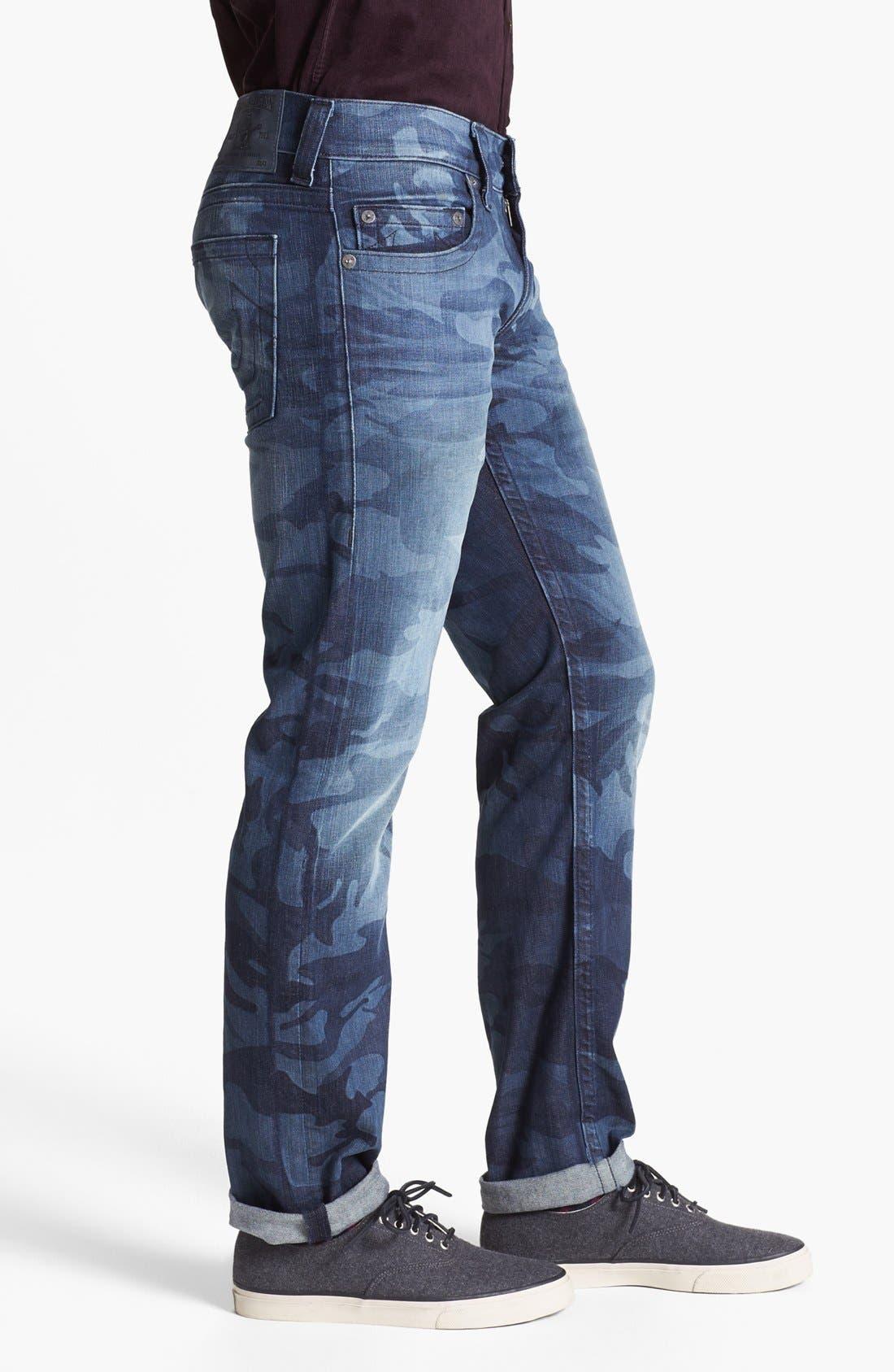 'Bobby' Straight Leg Selvedge Jeans,                             Alternate thumbnail 2, color,                             400