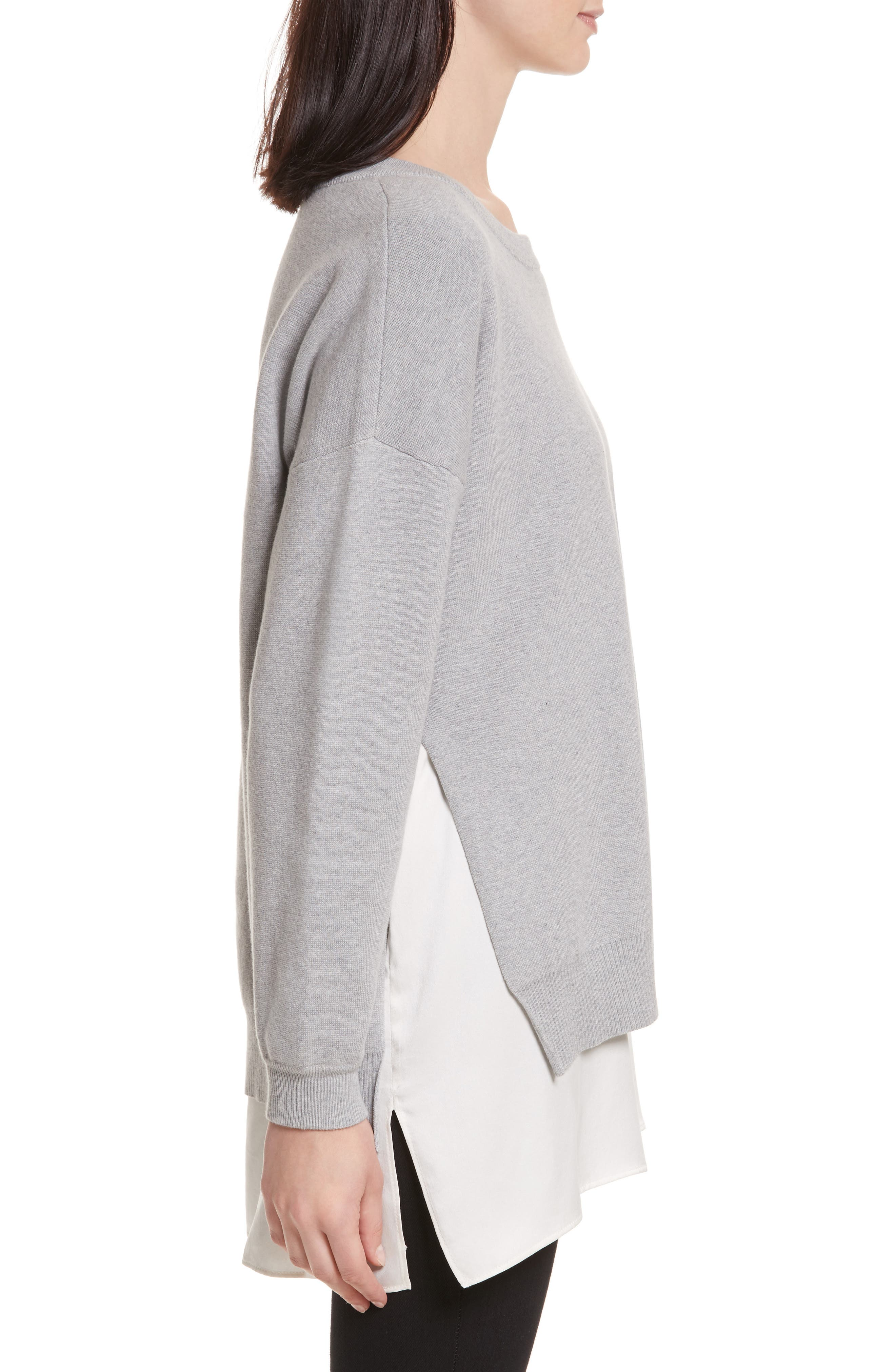 Eldridge Side Slit Undershirt Tunic,                             Alternate thumbnail 3, color,