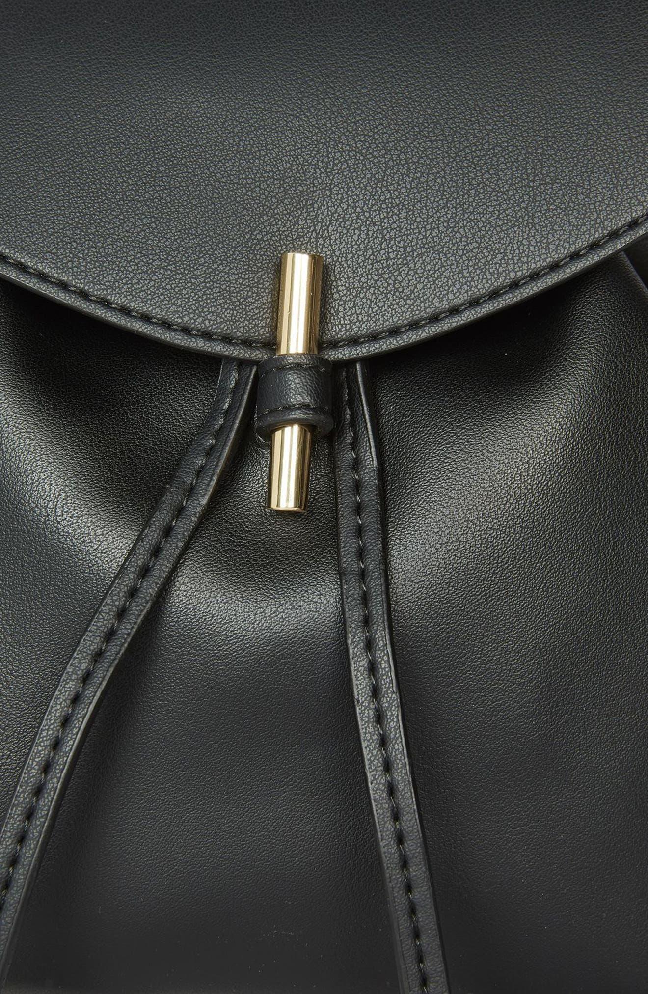 Blake Mini Faux Leather Backpack,                             Alternate thumbnail 13, color,