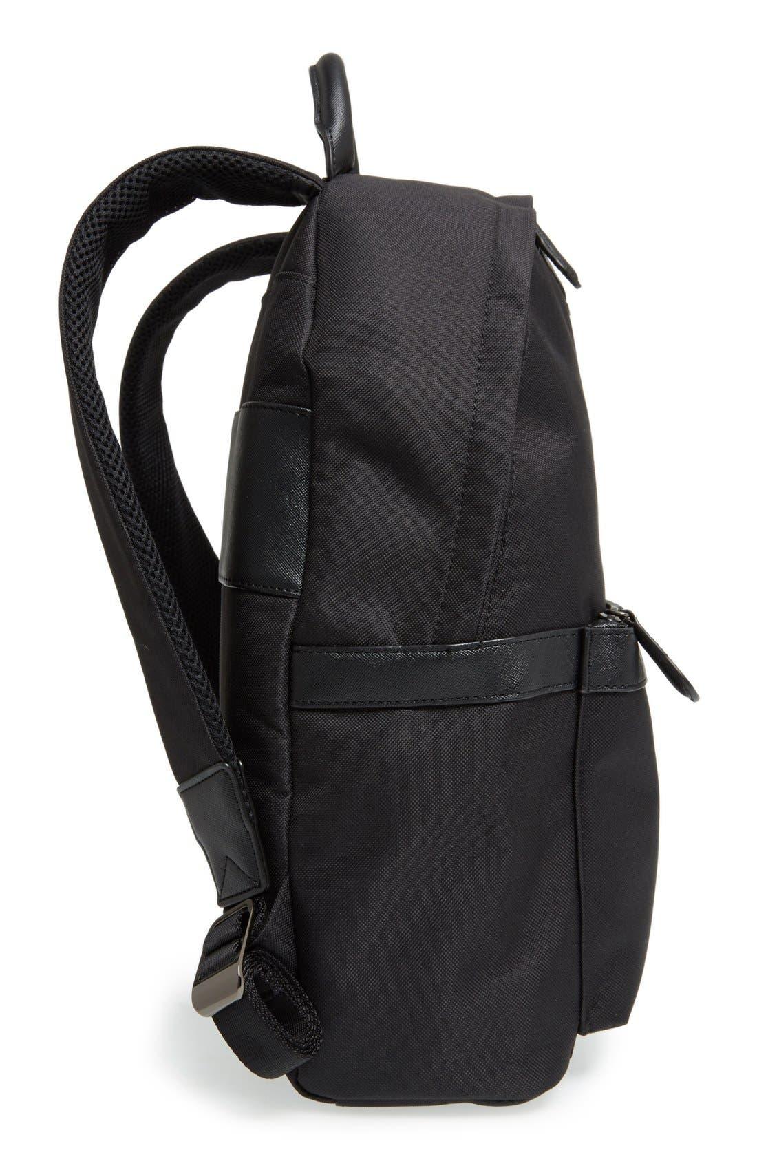 'Seata' Nylon Backpack,                             Alternate thumbnail 5, color,                             001
