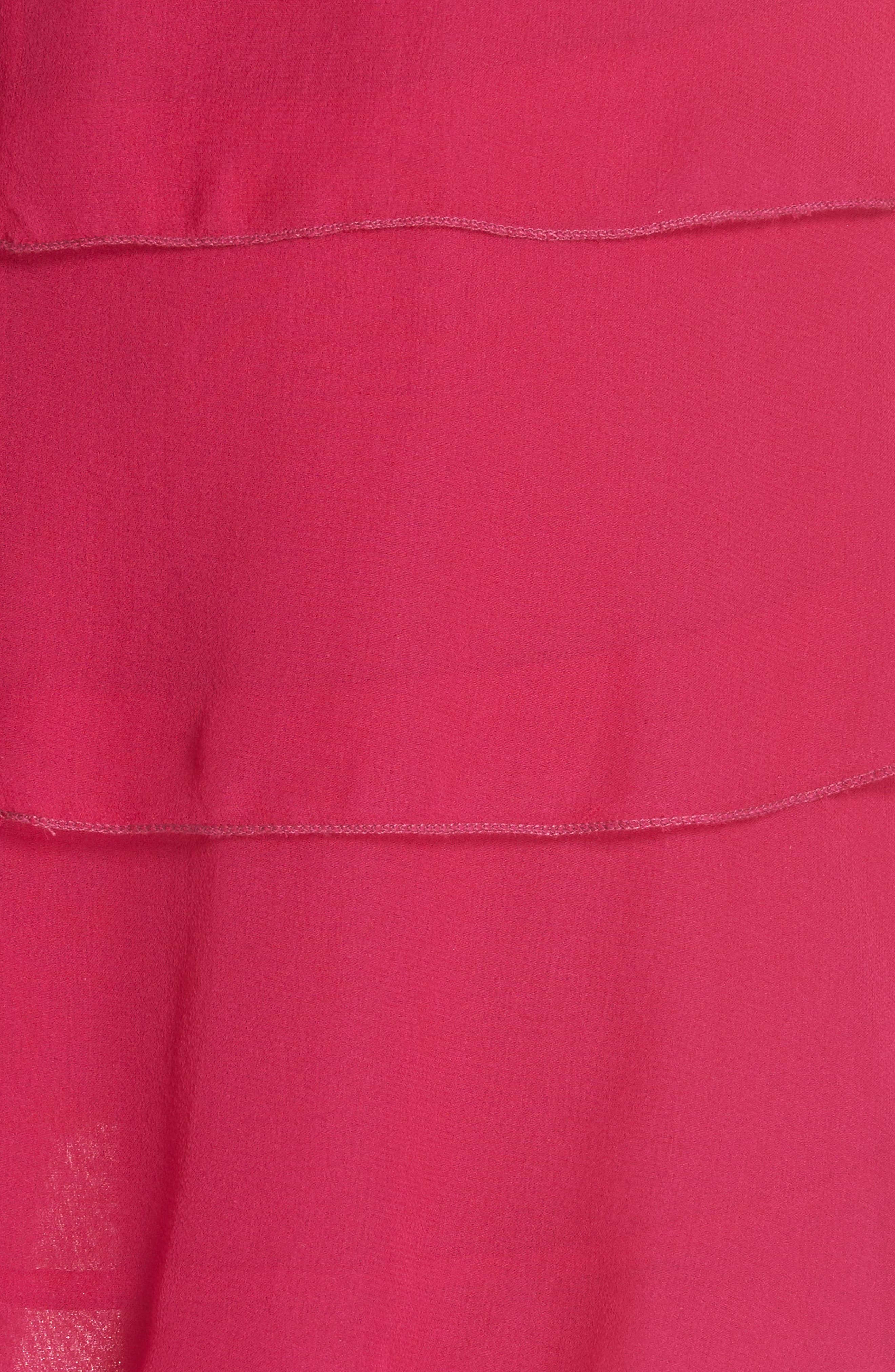 ALICE + OLIVIA,                             Felicita Ruffle Silk Dress,                             Alternate thumbnail 5, color,                             601