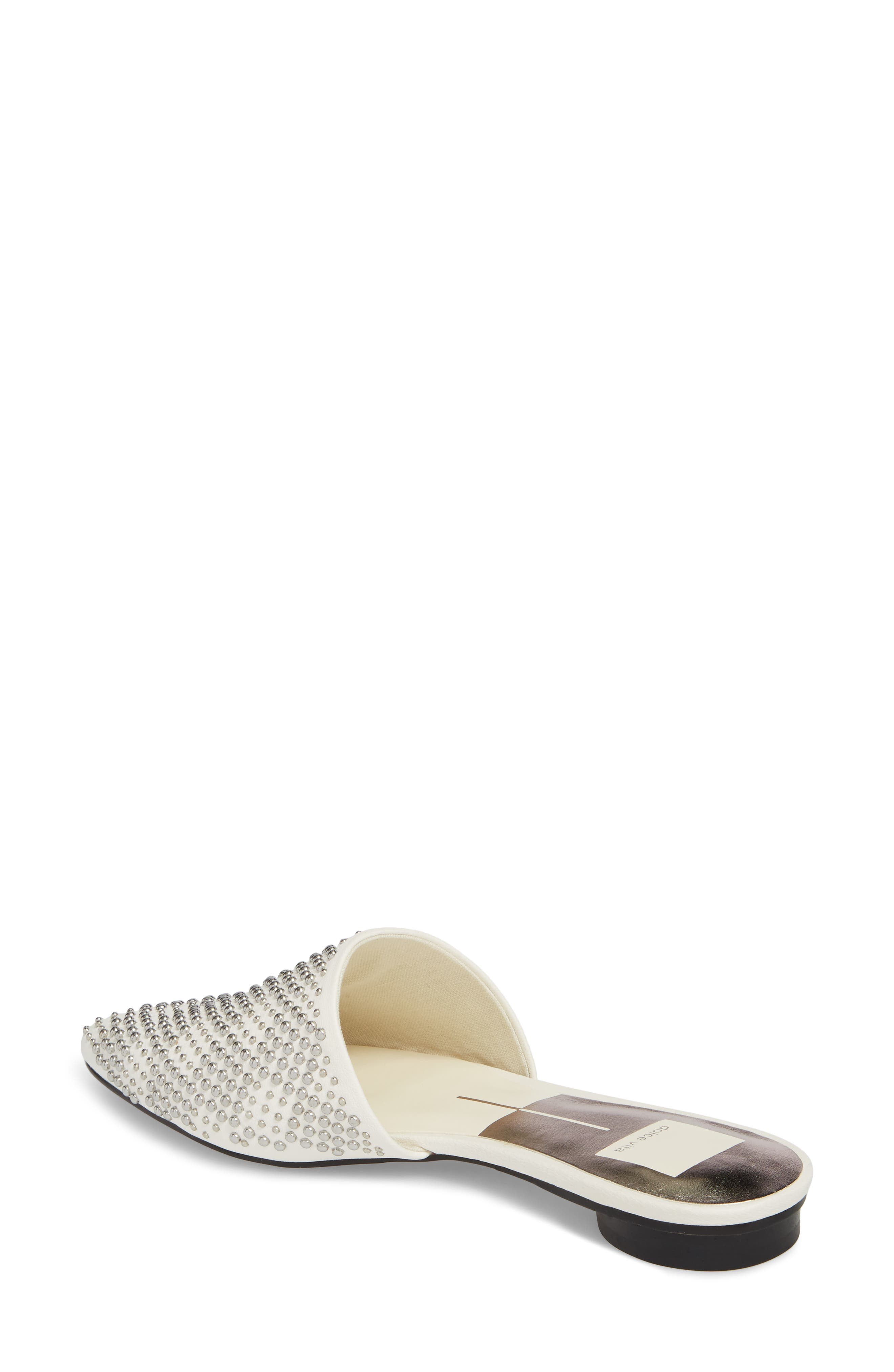 Elvah Studded Mule,                             Alternate thumbnail 2, color,                             OFF WHITE LEATHER STUDS