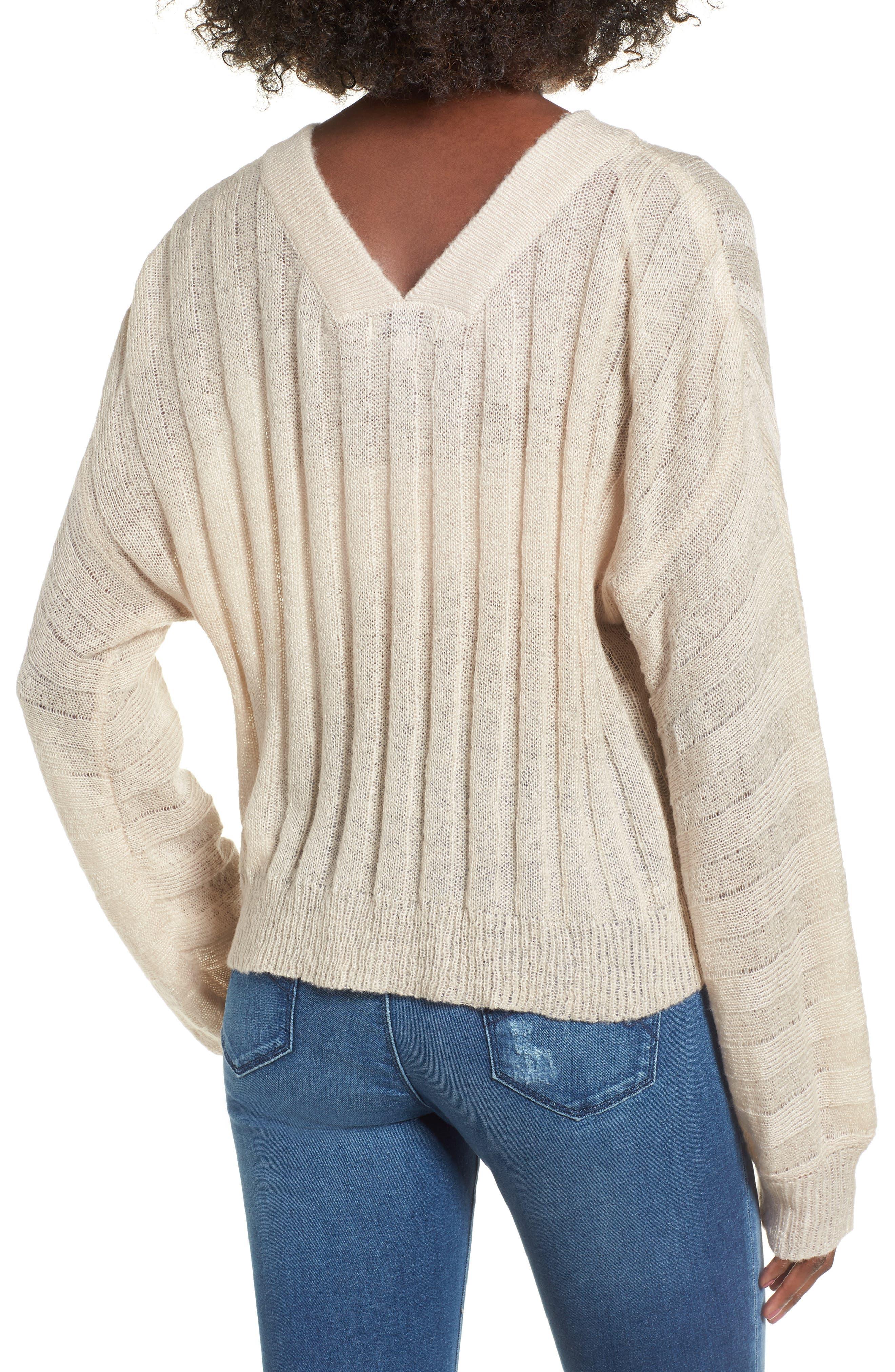Rib Knit Sweater,                             Alternate thumbnail 2, color,                             900