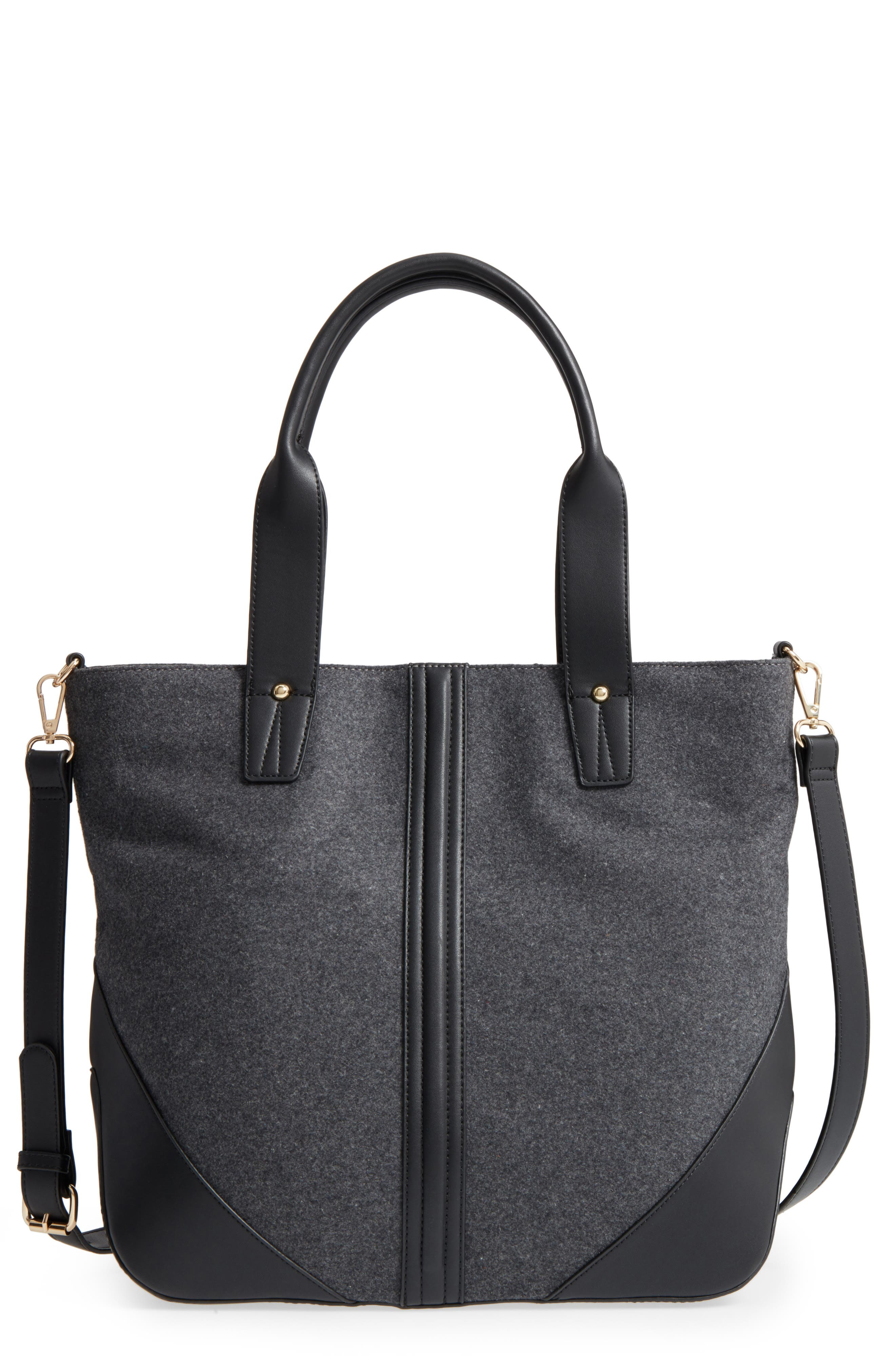 Flannel Tote,                             Main thumbnail 1, color,                             020