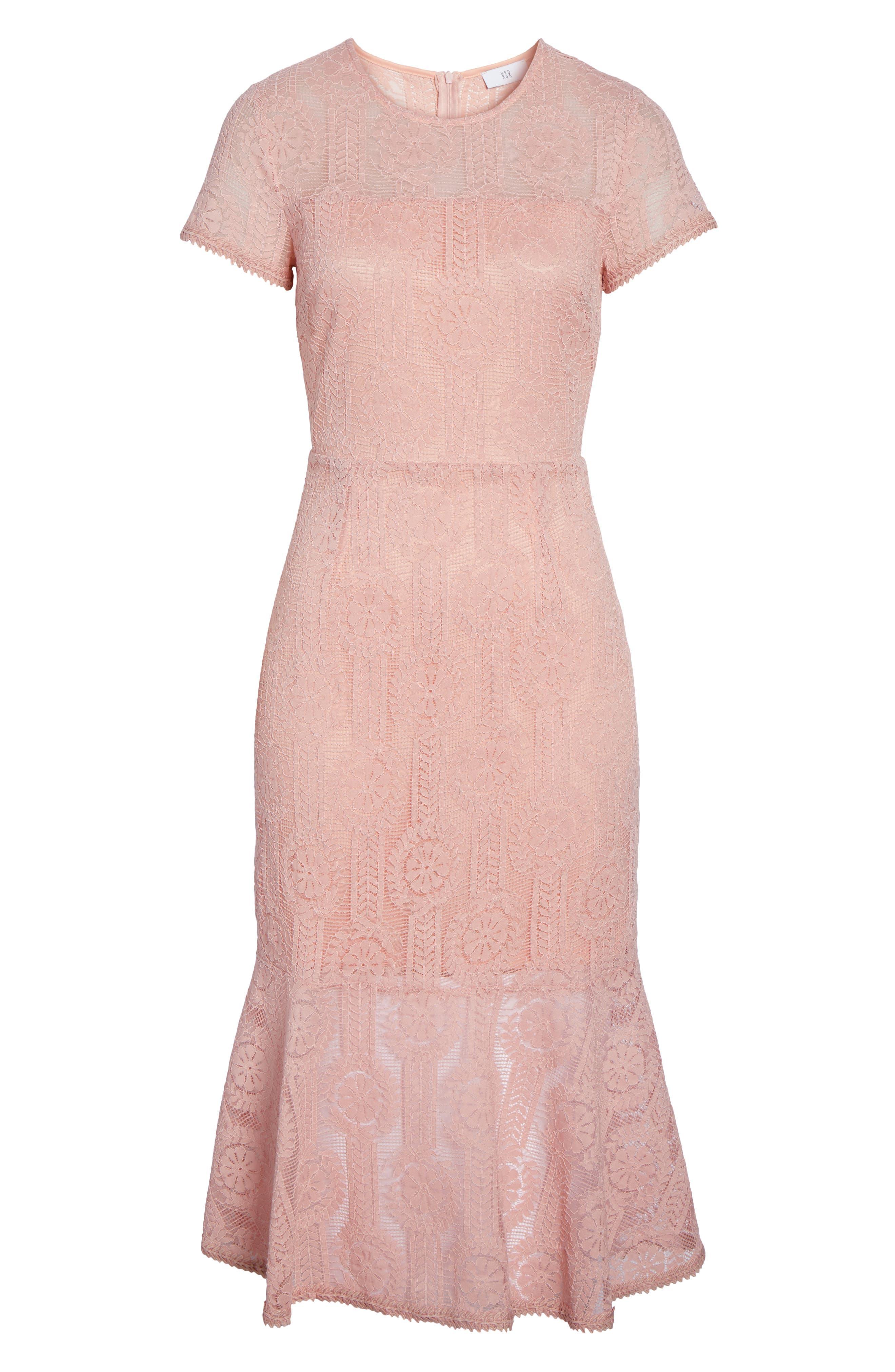 Lace Midi Dress,                             Alternate thumbnail 12, color,