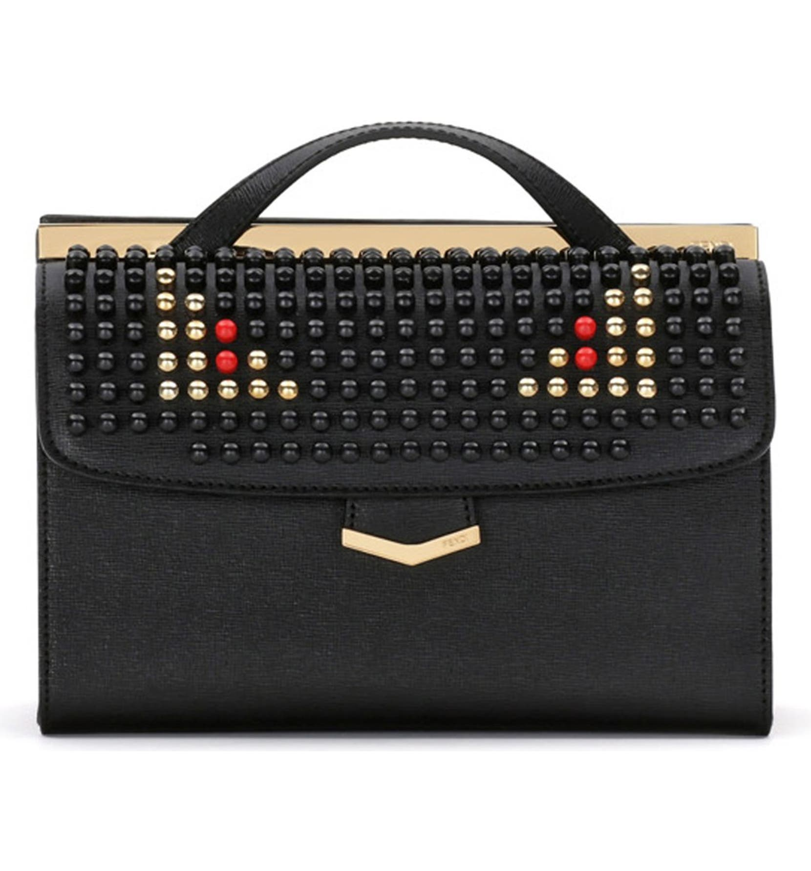 4a11107479a Fendi  Demi Jour  Studded Monster Shoulder Bag   Nordstrom