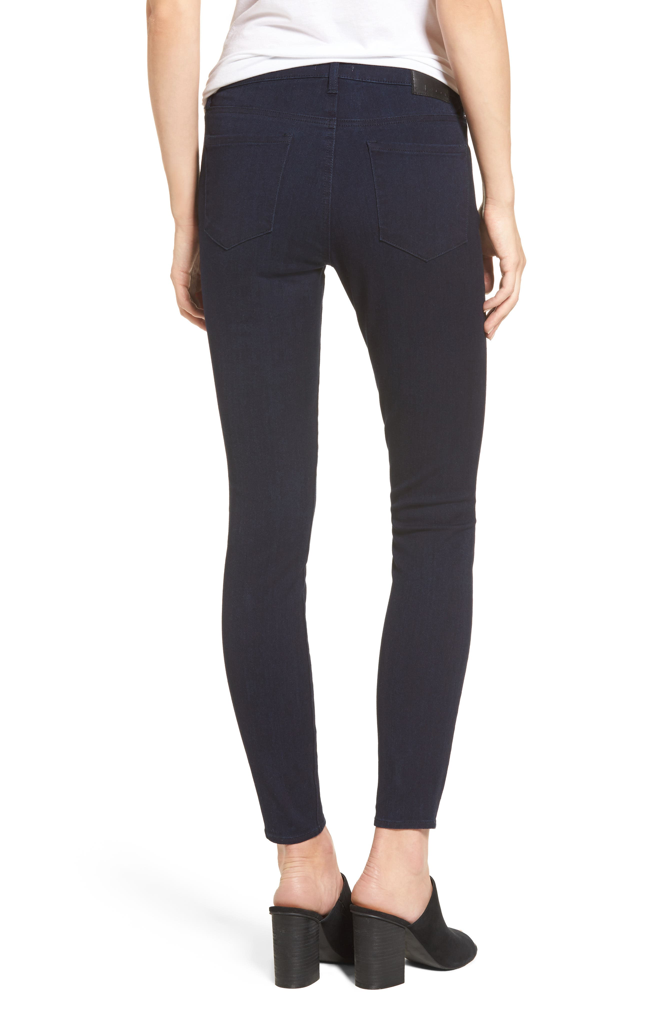 Mid Rise Skinny Jeans,                             Alternate thumbnail 2, color,                             401
