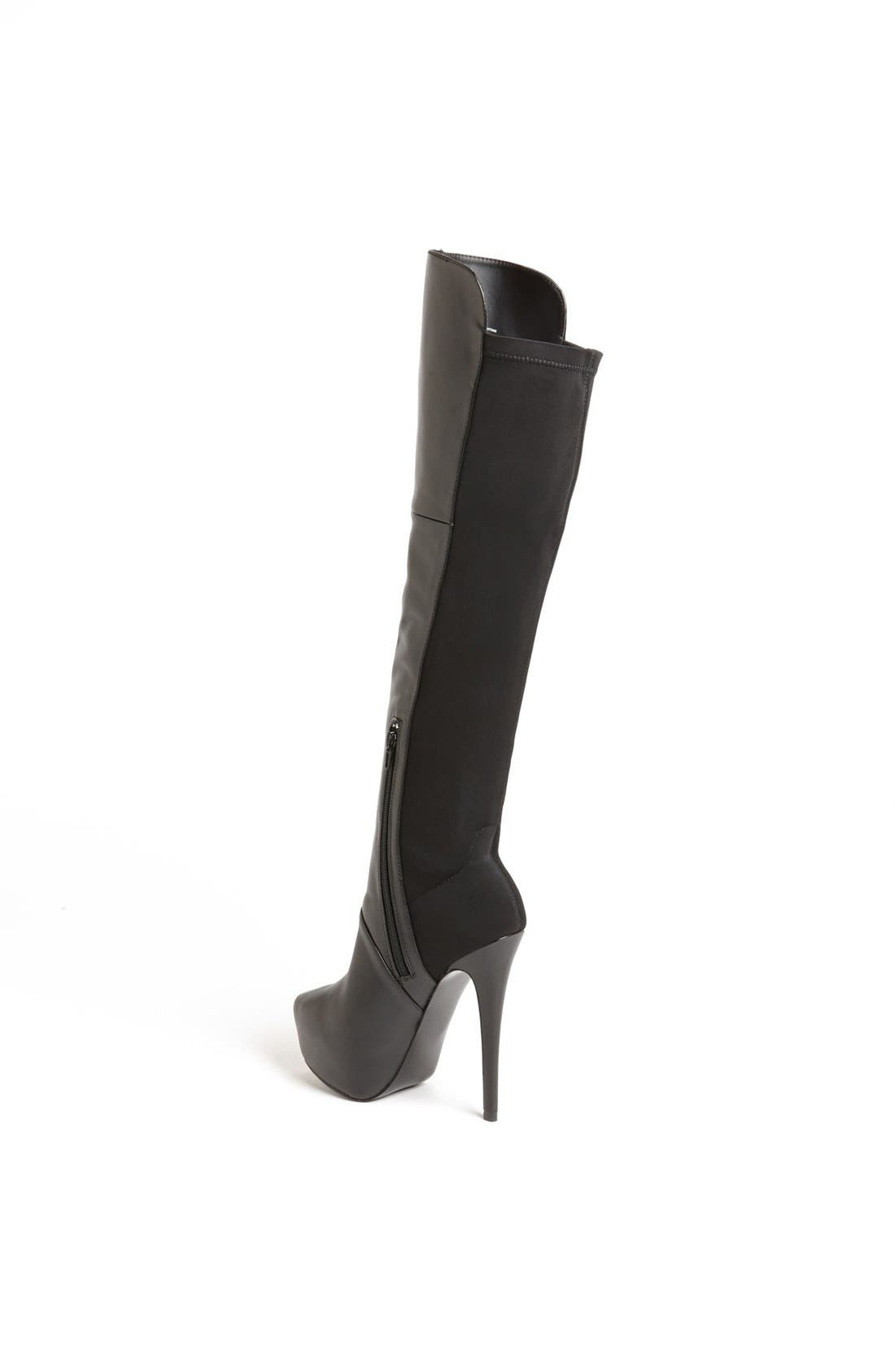'Highting' Over the Knee Pointy Toe Stretch Boot,                             Alternate thumbnail 3, color,                             015