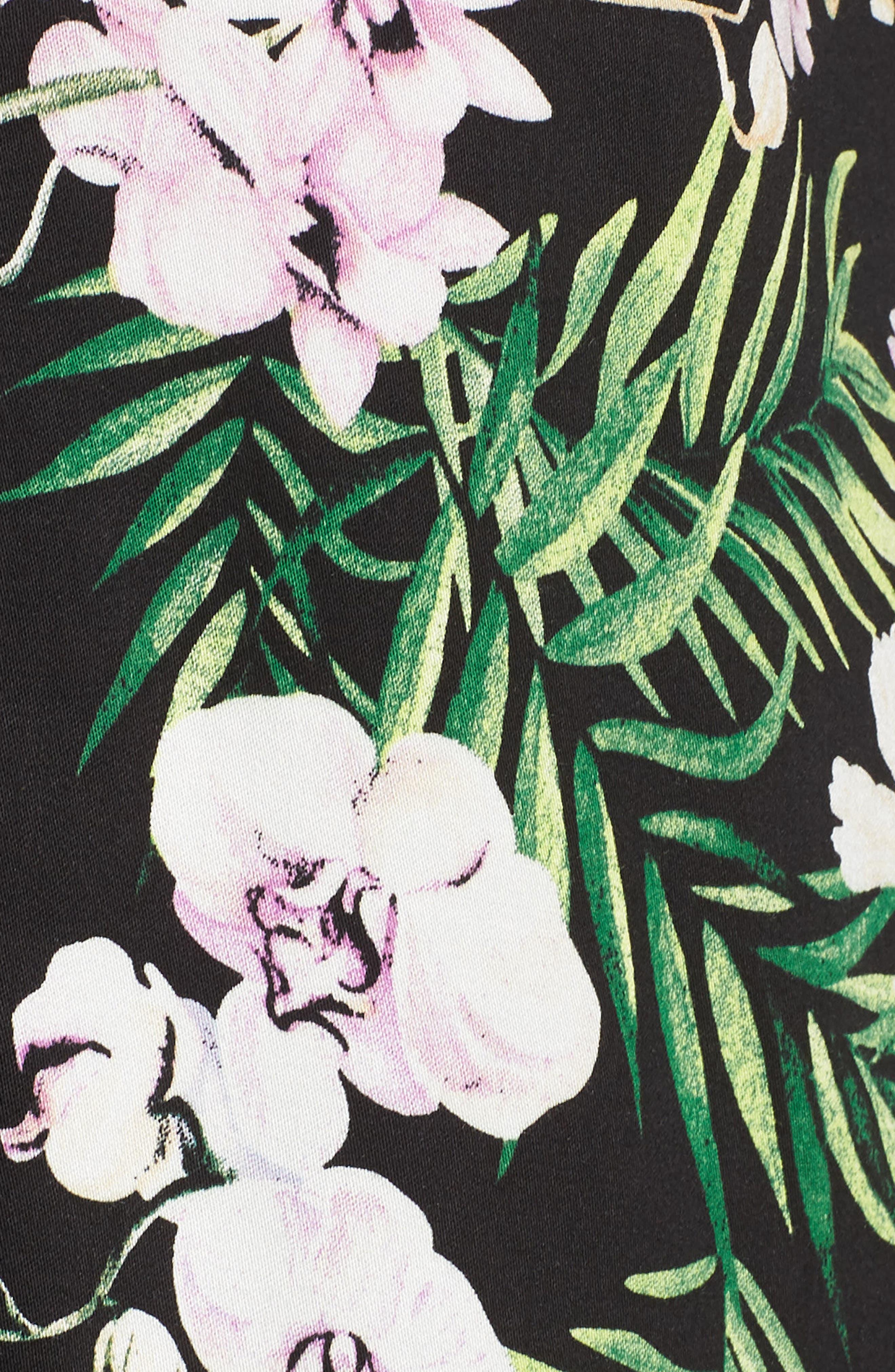 Floral Print Pajamas,                             Alternate thumbnail 5, color,                             001