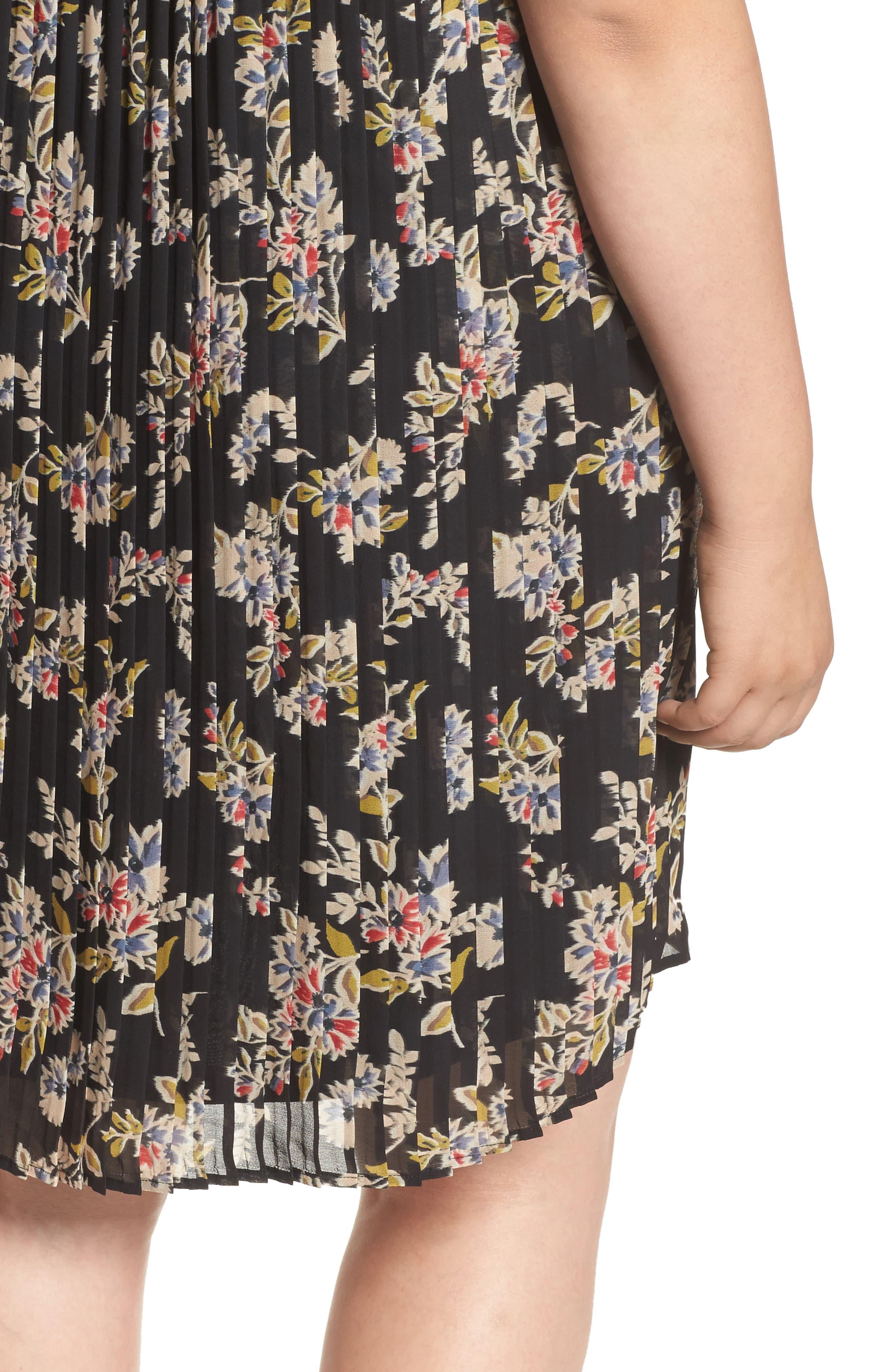 Pleated Back Dress,                             Alternate thumbnail 4, color,                             015