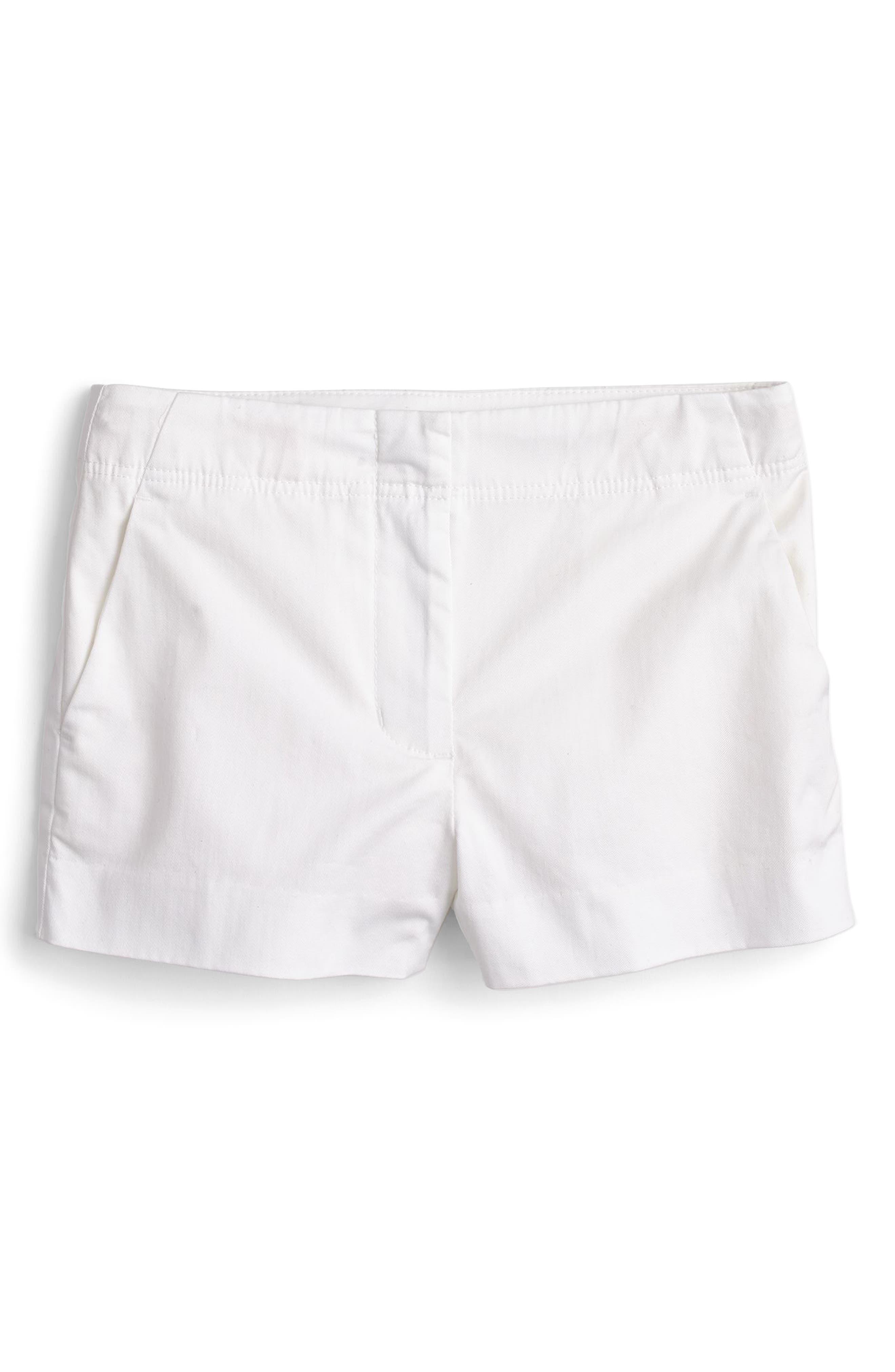 Frankie Stretch Cotton Shorts,                         Main,                         color, 101