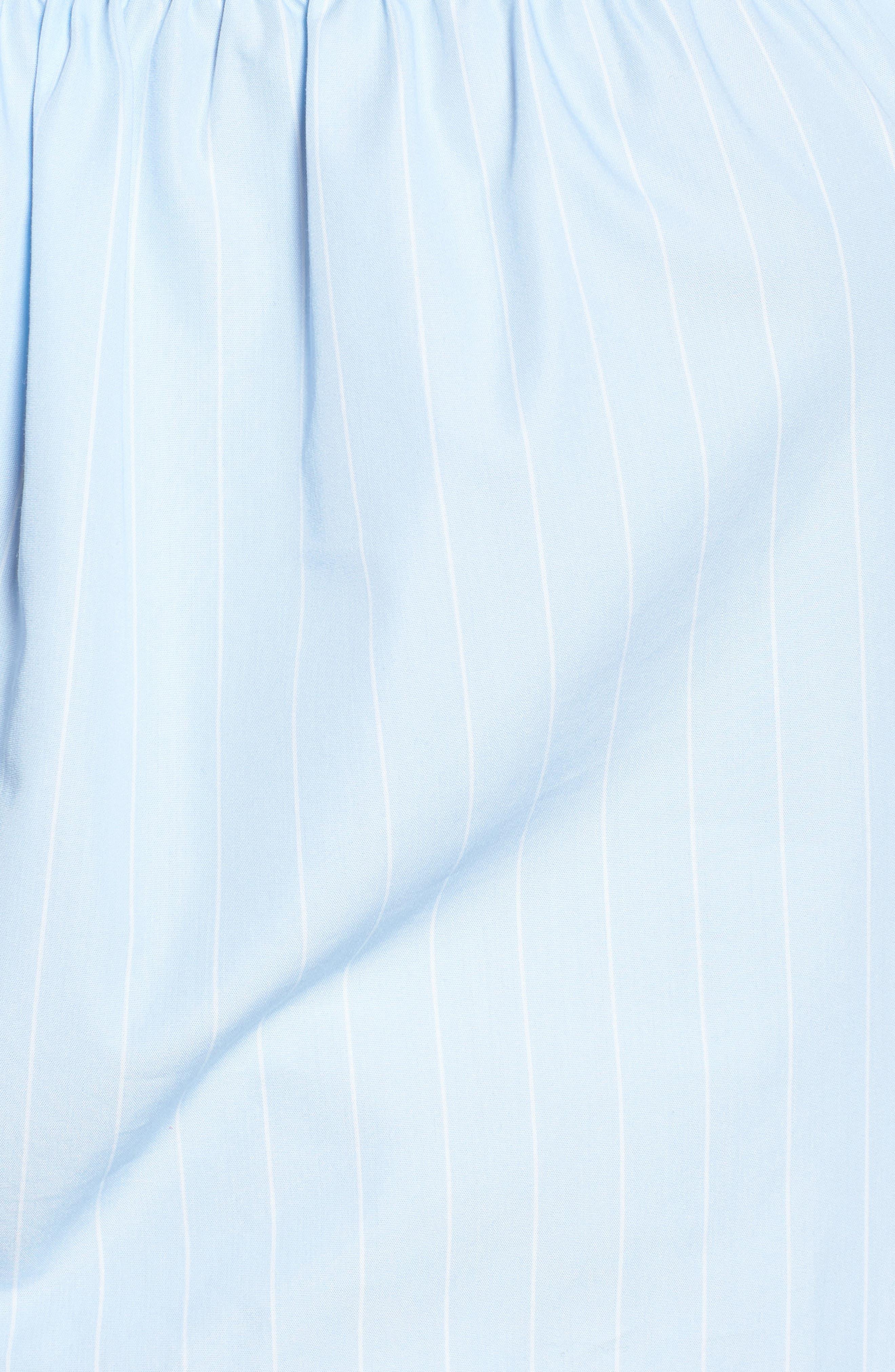 Cold Shoulder Ruffle Trim Top,                             Alternate thumbnail 5, color,                             450