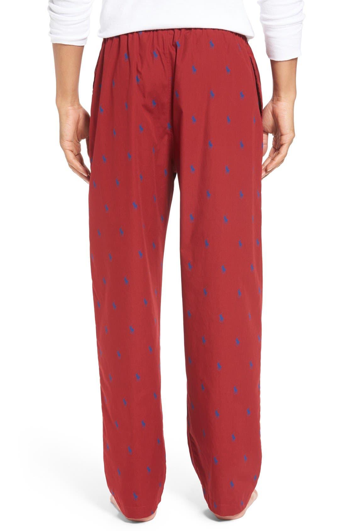 Cotton Lounge Pants,                             Alternate thumbnail 24, color,