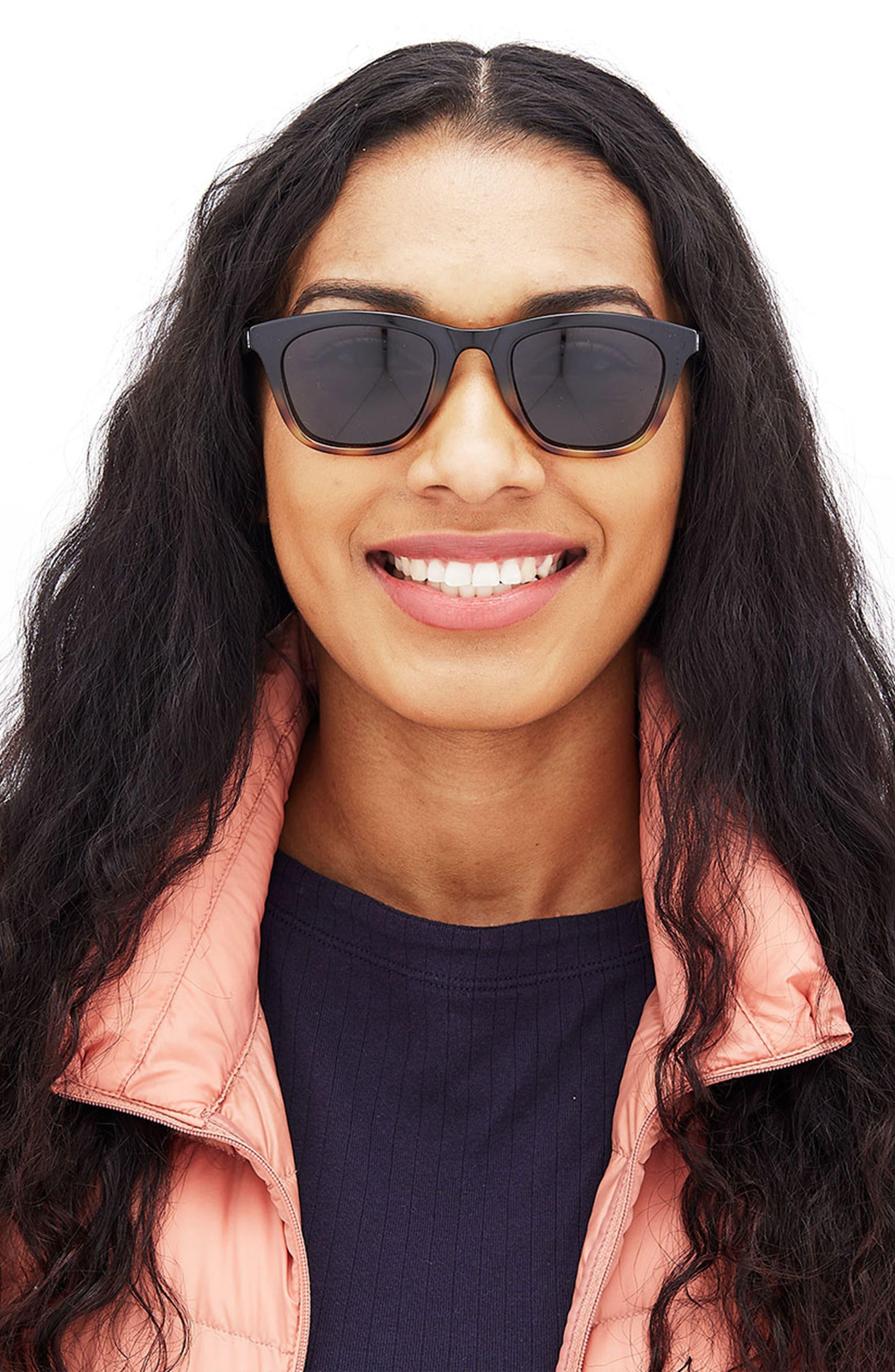 Manresa 49mm Polarized Sunglasses,                             Alternate thumbnail 3, color,                             BLACK TORTOISE SLATE