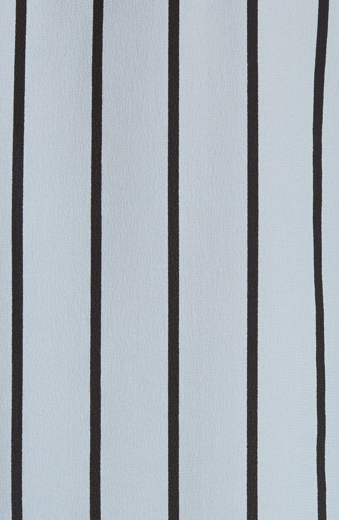 Daddy Oversize Stripe Silk Shirt,                             Alternate thumbnail 5, color,                             469
