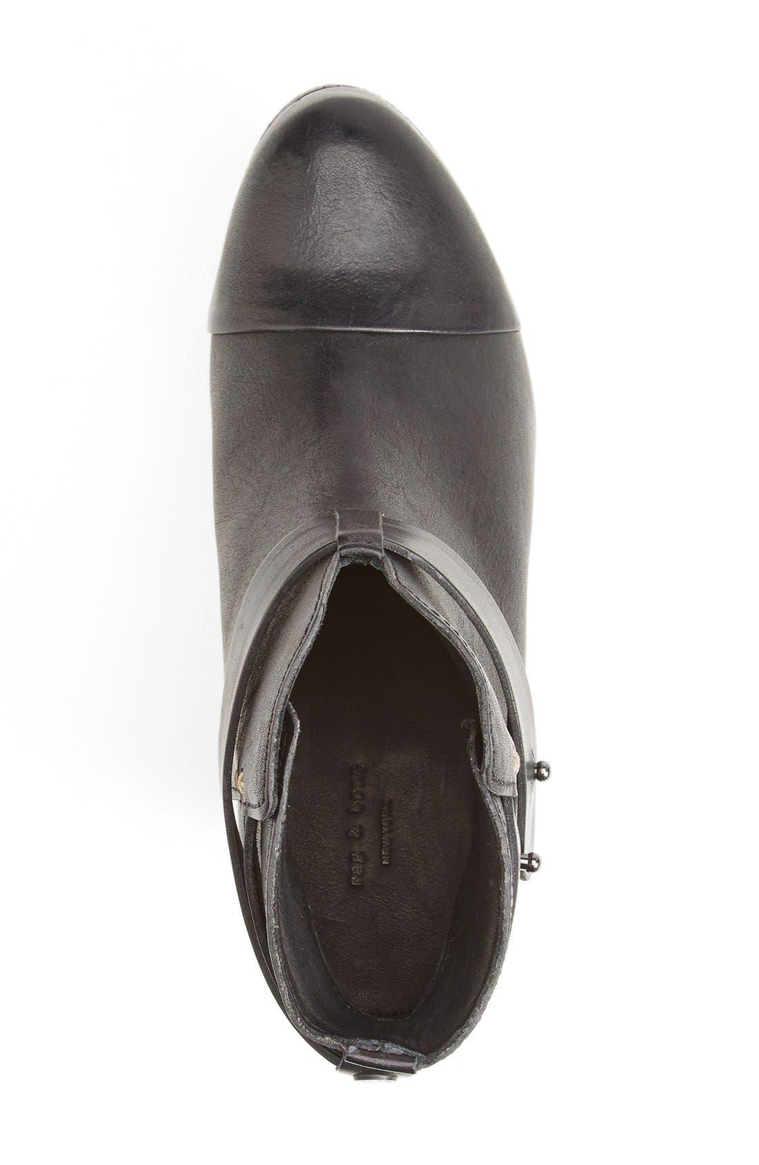 'Harrow' Leather Boot,                             Alternate thumbnail 5, color,                             BLACK