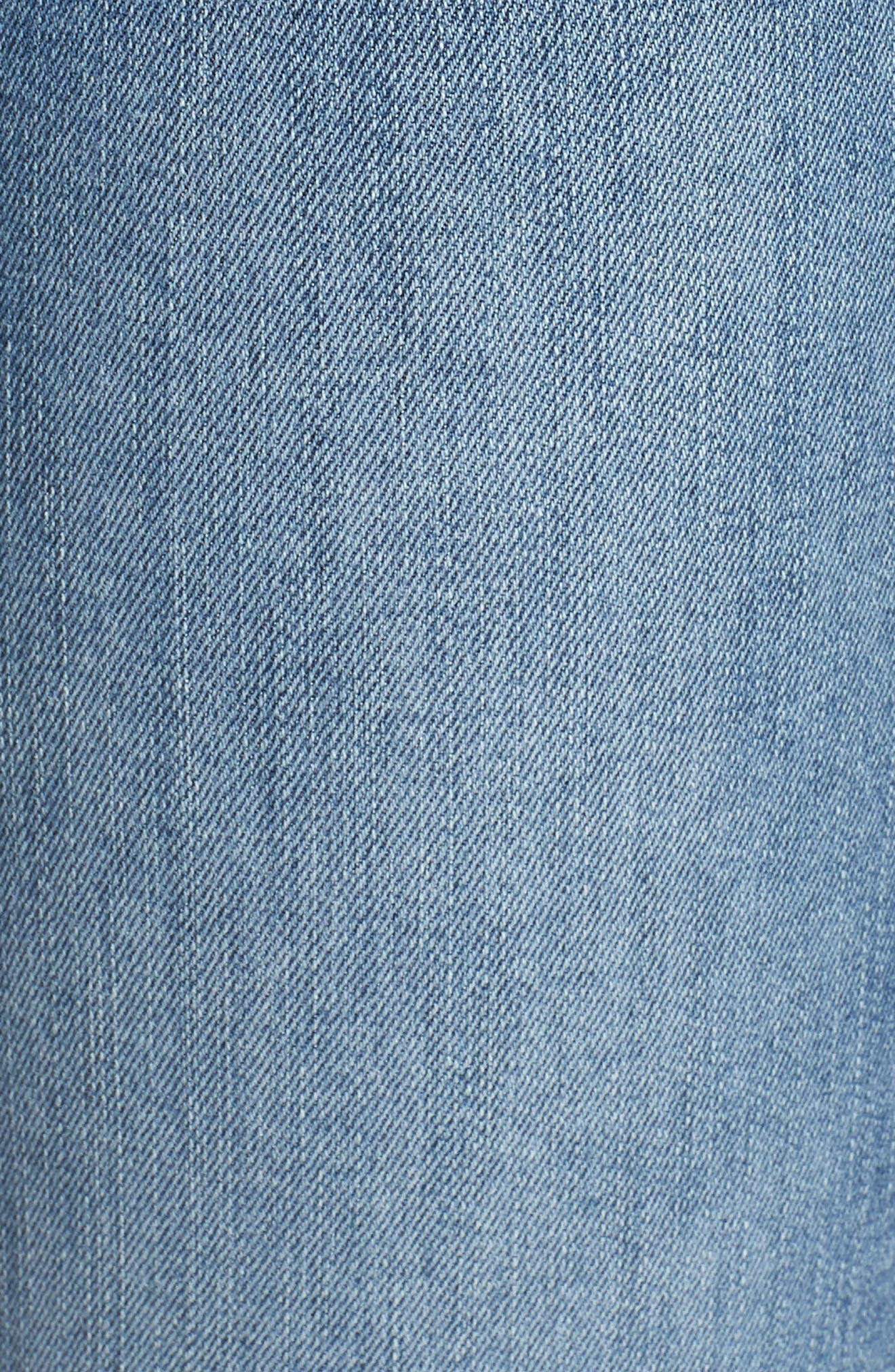 Transcend Vintage - Hoxton High Waist Ankle Skinny Jeans,                             Alternate thumbnail 6, color,                             ZAHARA