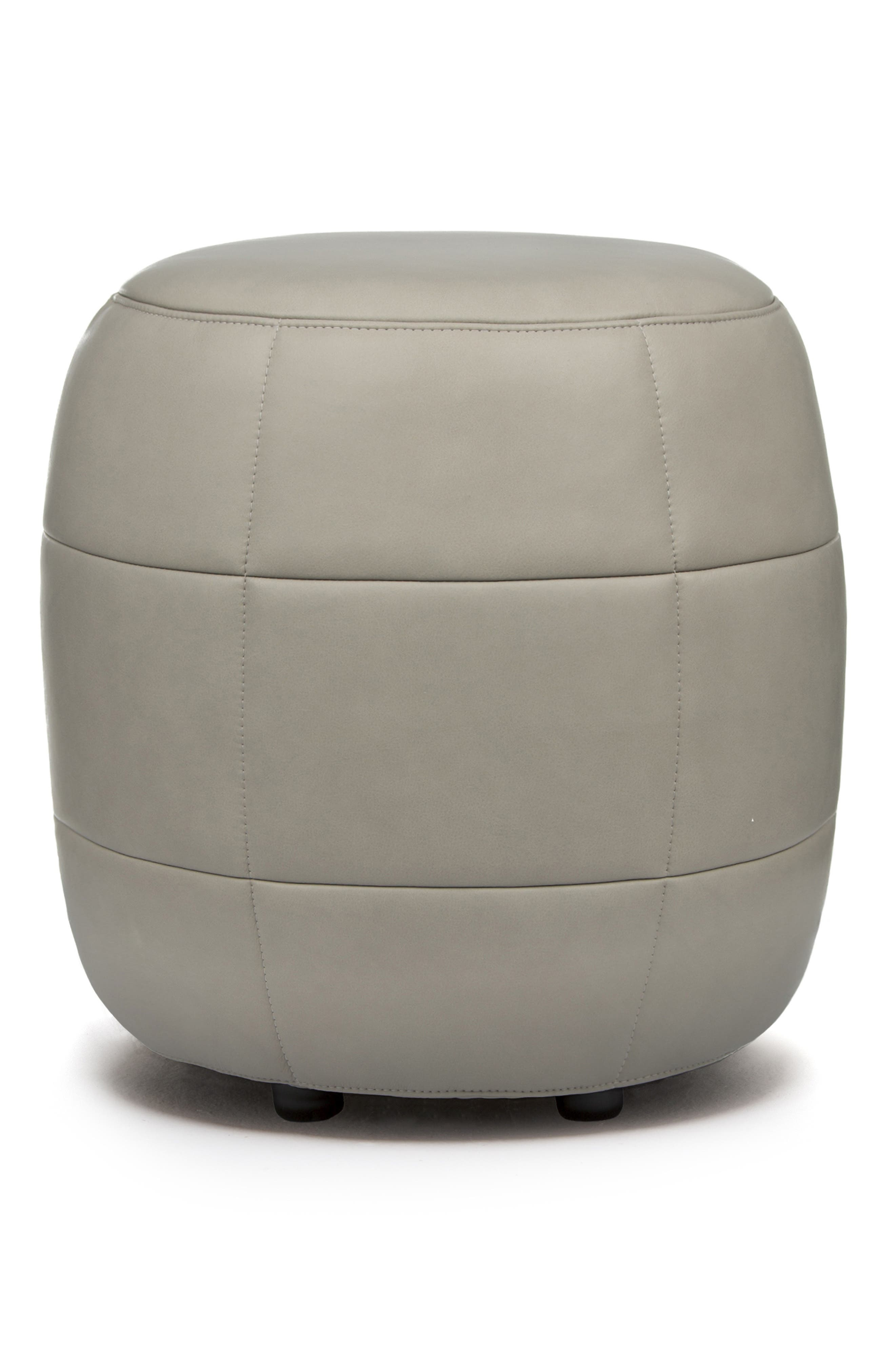 Barrell Leather Stool,                         Main,                         color, LOXTON GLACIER