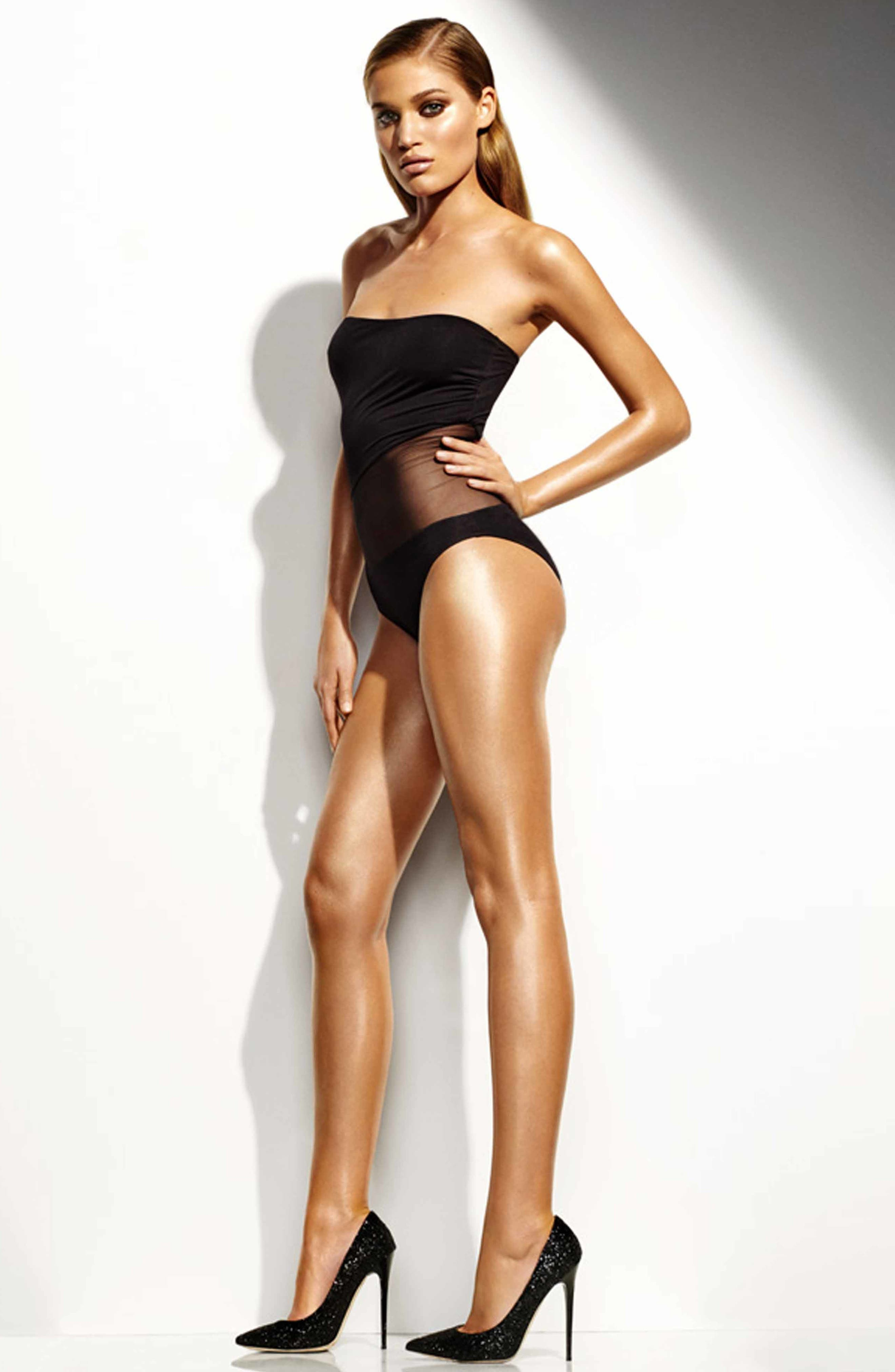 Supermodel Body Slimmer Shimmer Shape, Hydrate & Glow,                             Alternate thumbnail 4, color,                             NO COLOR