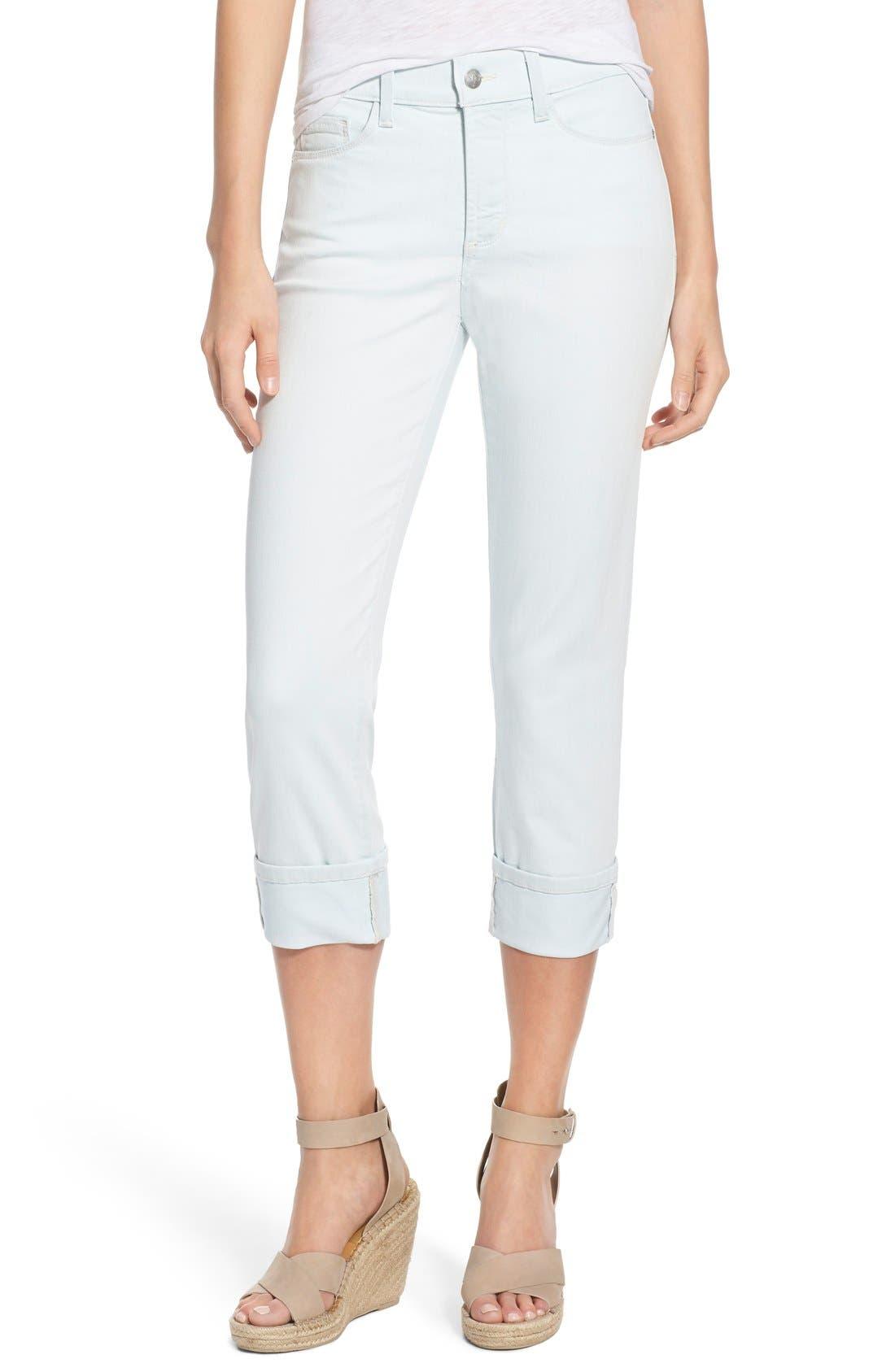 'Dayla' Colored Wide Cuff Capri Jeans,                             Main thumbnail 13, color,