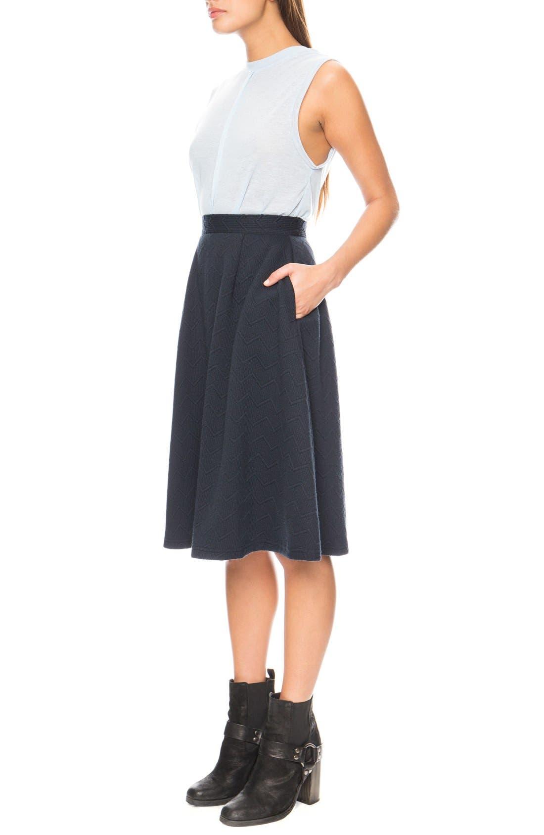 'Passport' Midi Skirt,                             Alternate thumbnail 4, color,                             400