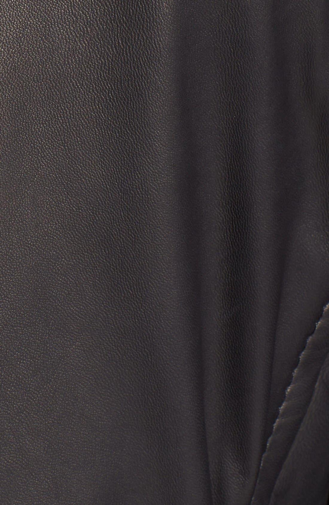 BOSS,                             HUGO BOSS 'McLaren - Nivelles' Leather Jacket,                             Alternate thumbnail 3, color,                             001