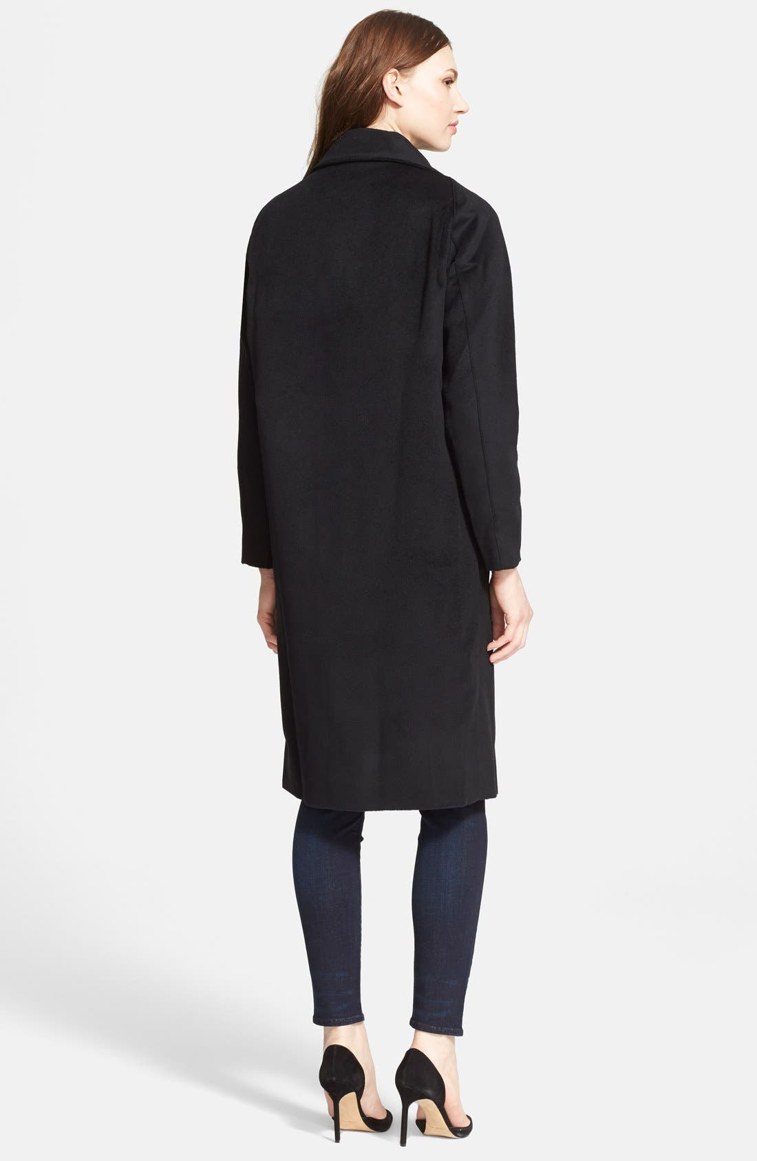 AYR,                             'The Stockholm' Wool Coat,                             Alternate thumbnail 3, color,                             001