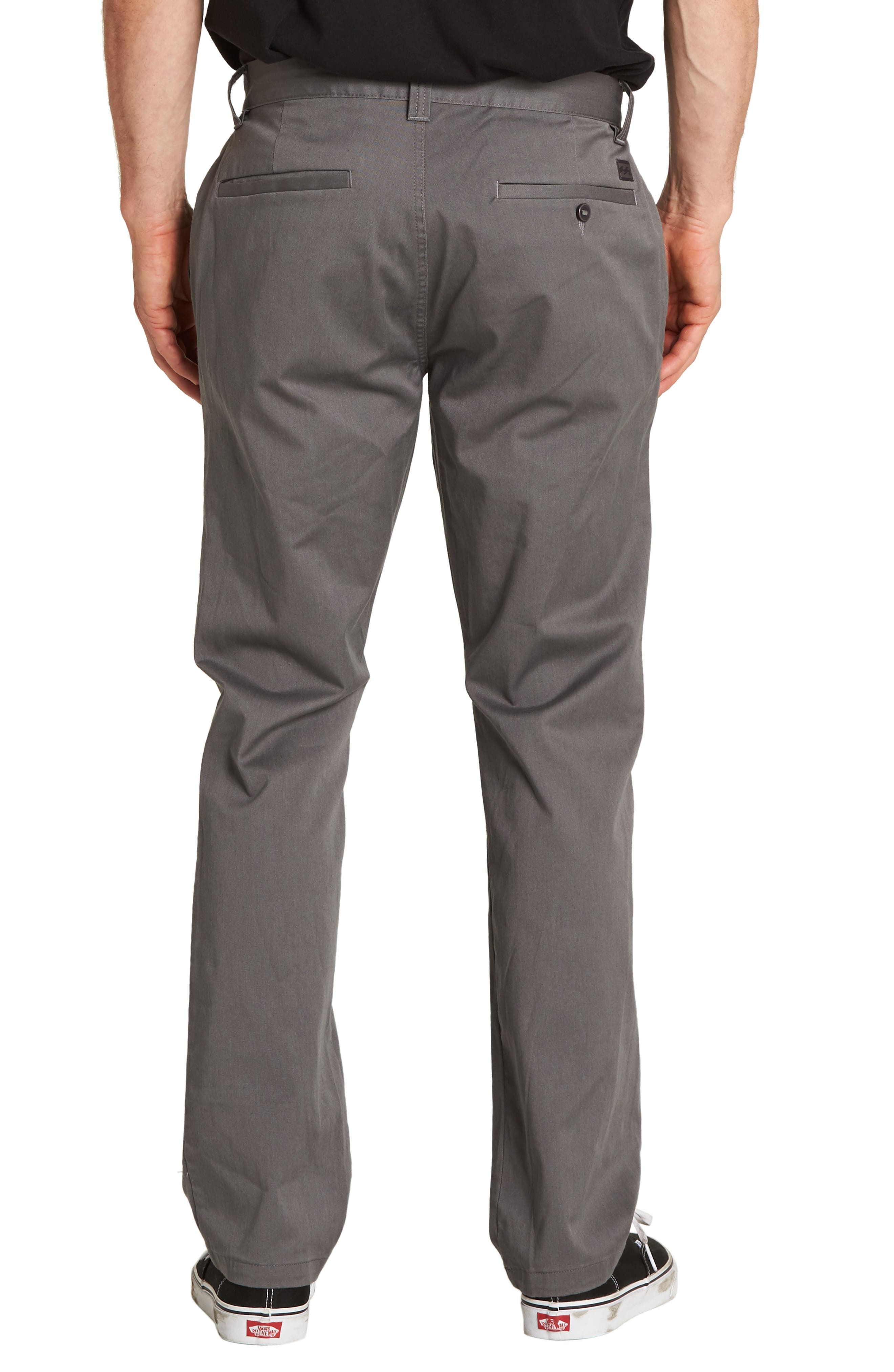 Carter Slim Stretch Chino Pants,                             Alternate thumbnail 2, color,                             PEWTER