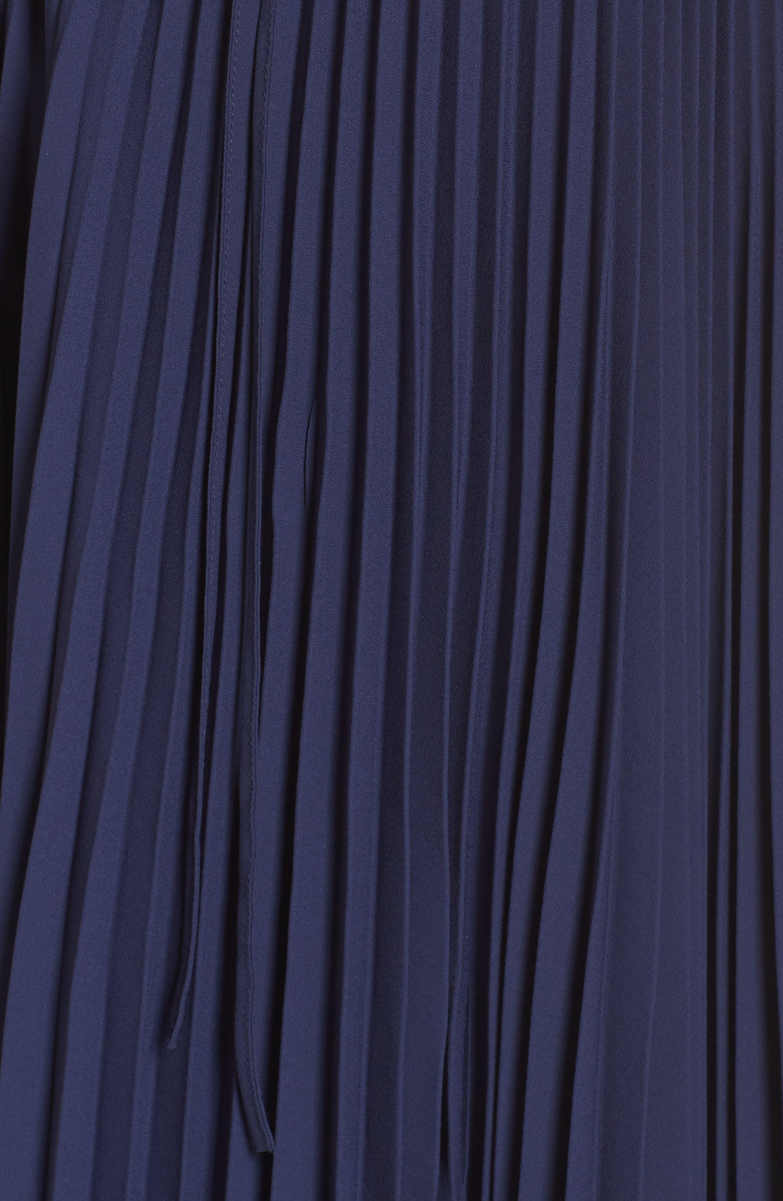Elise Off the Shoulder Pleated Georgette Dress,                             Alternate thumbnail 6, color,                             462