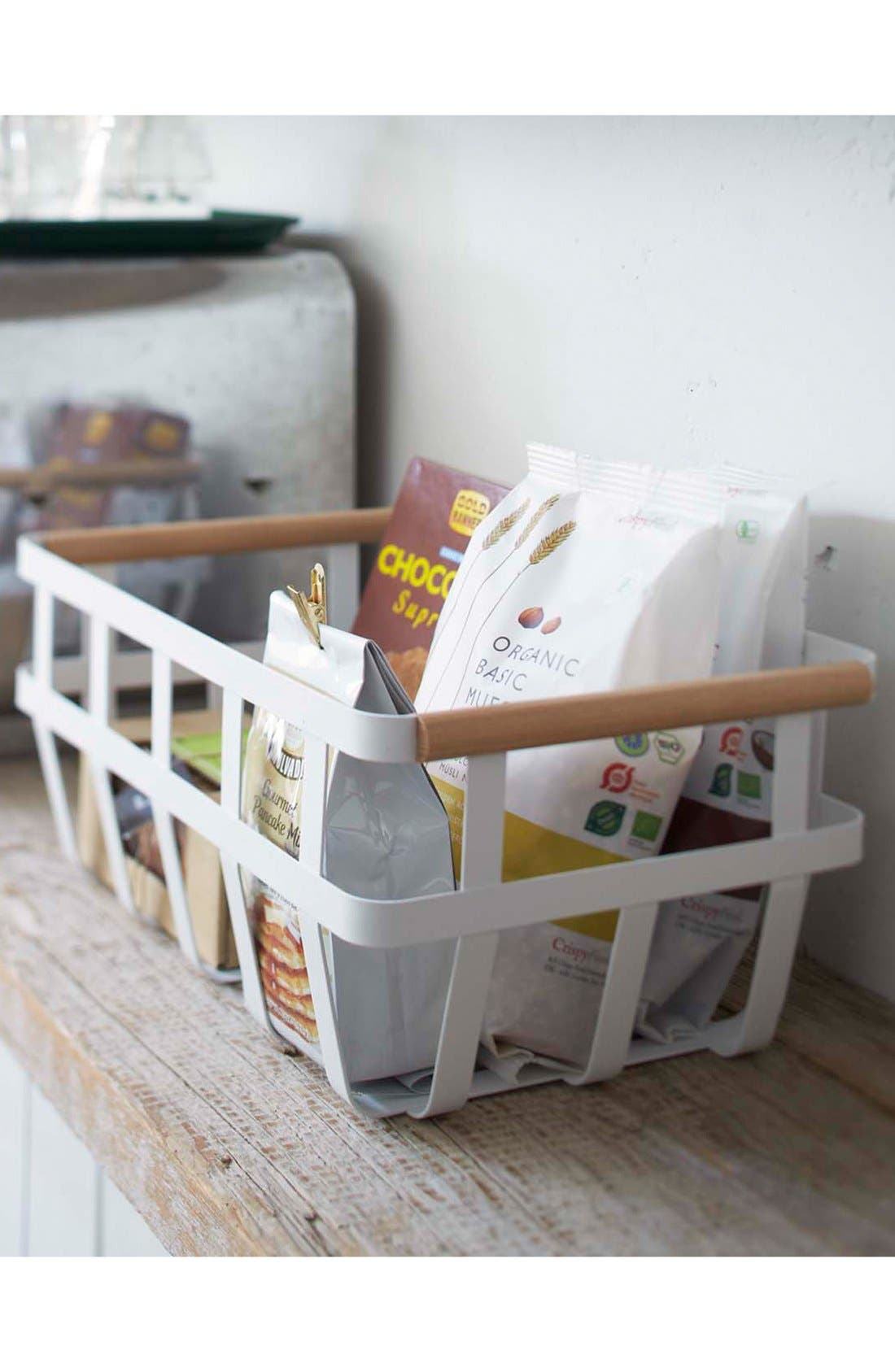 YAMAZAKI,                             'Tosca' Storage Basket,                             Alternate thumbnail 3, color,                             100