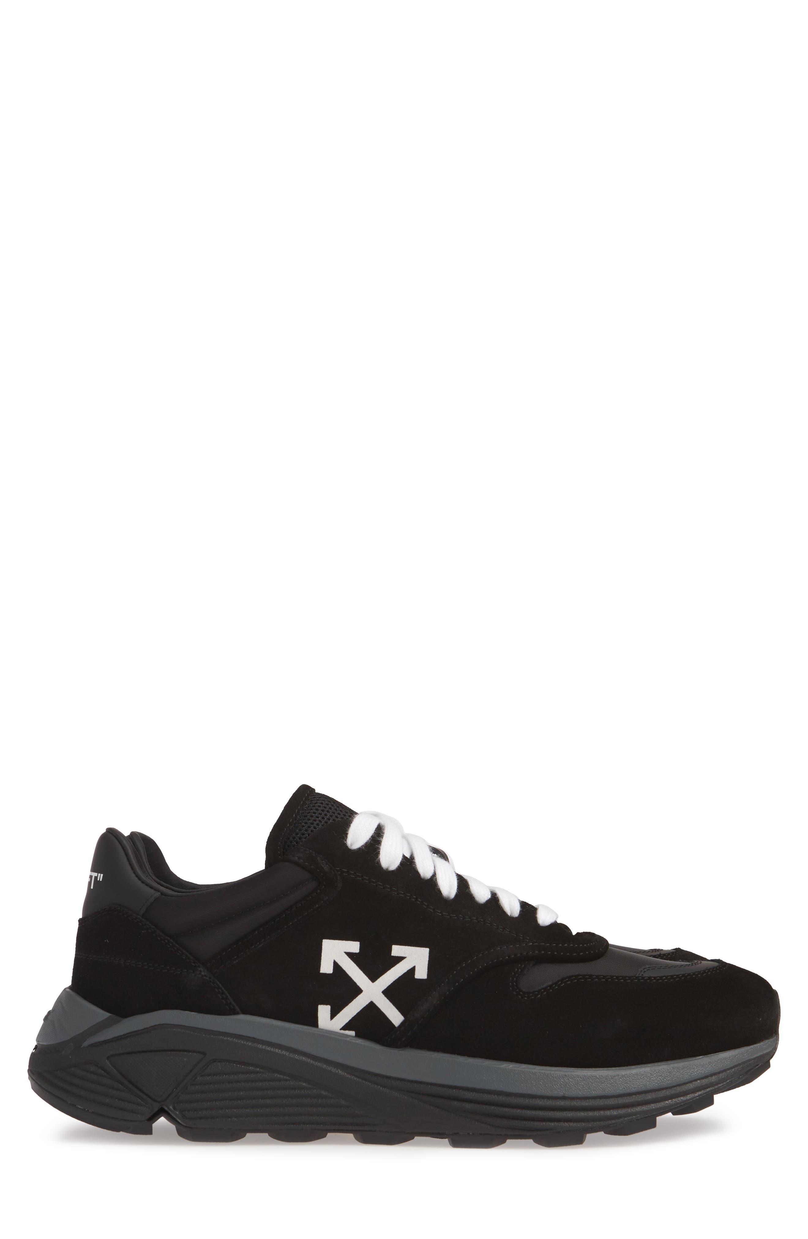 Jogger Sneaker,                             Alternate thumbnail 4, color,                             BLACK/ WHITE